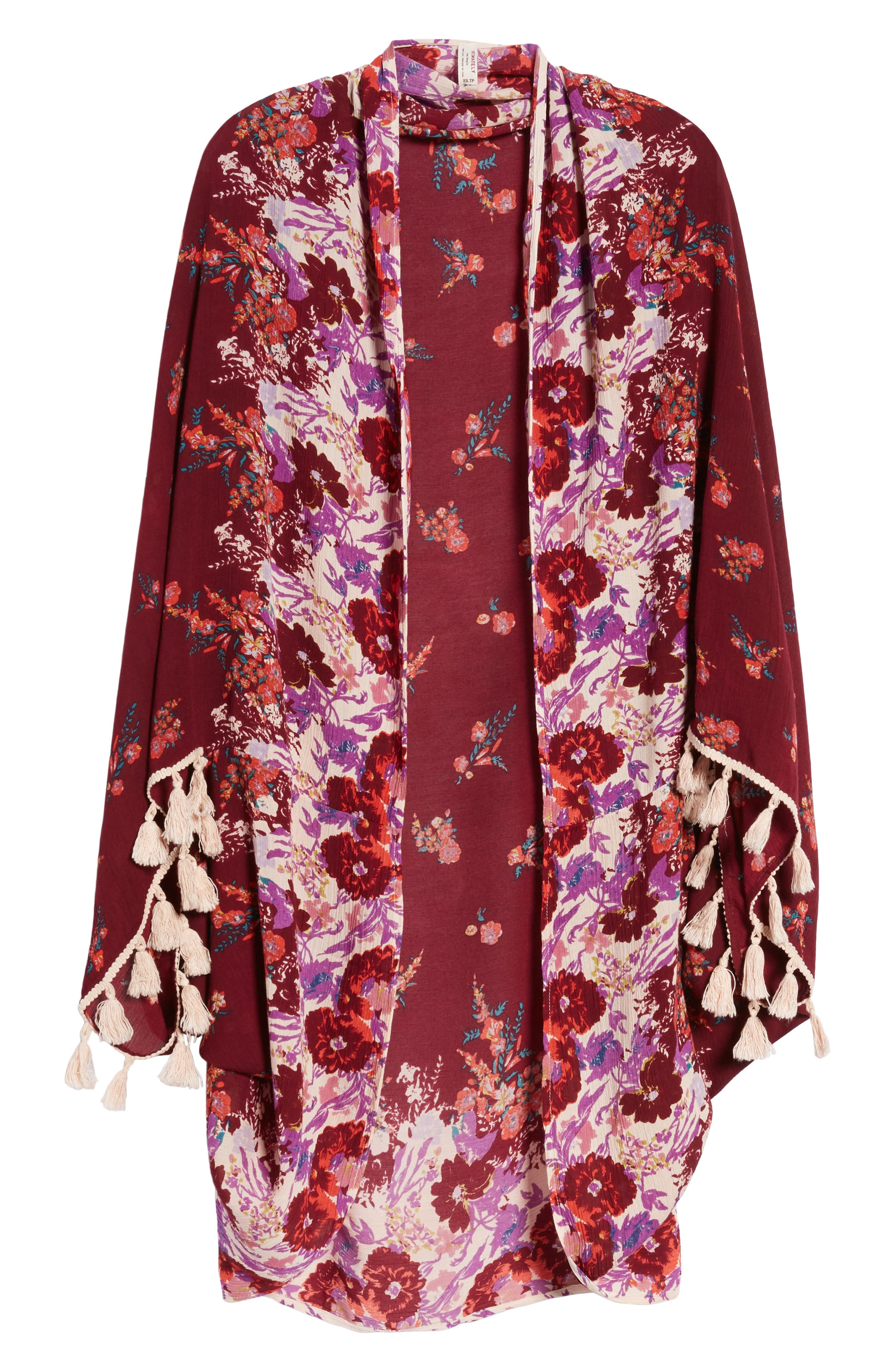 Bali Wrapped In Blooms Shawl,                             Alternate thumbnail 6, color,                             Red Combo