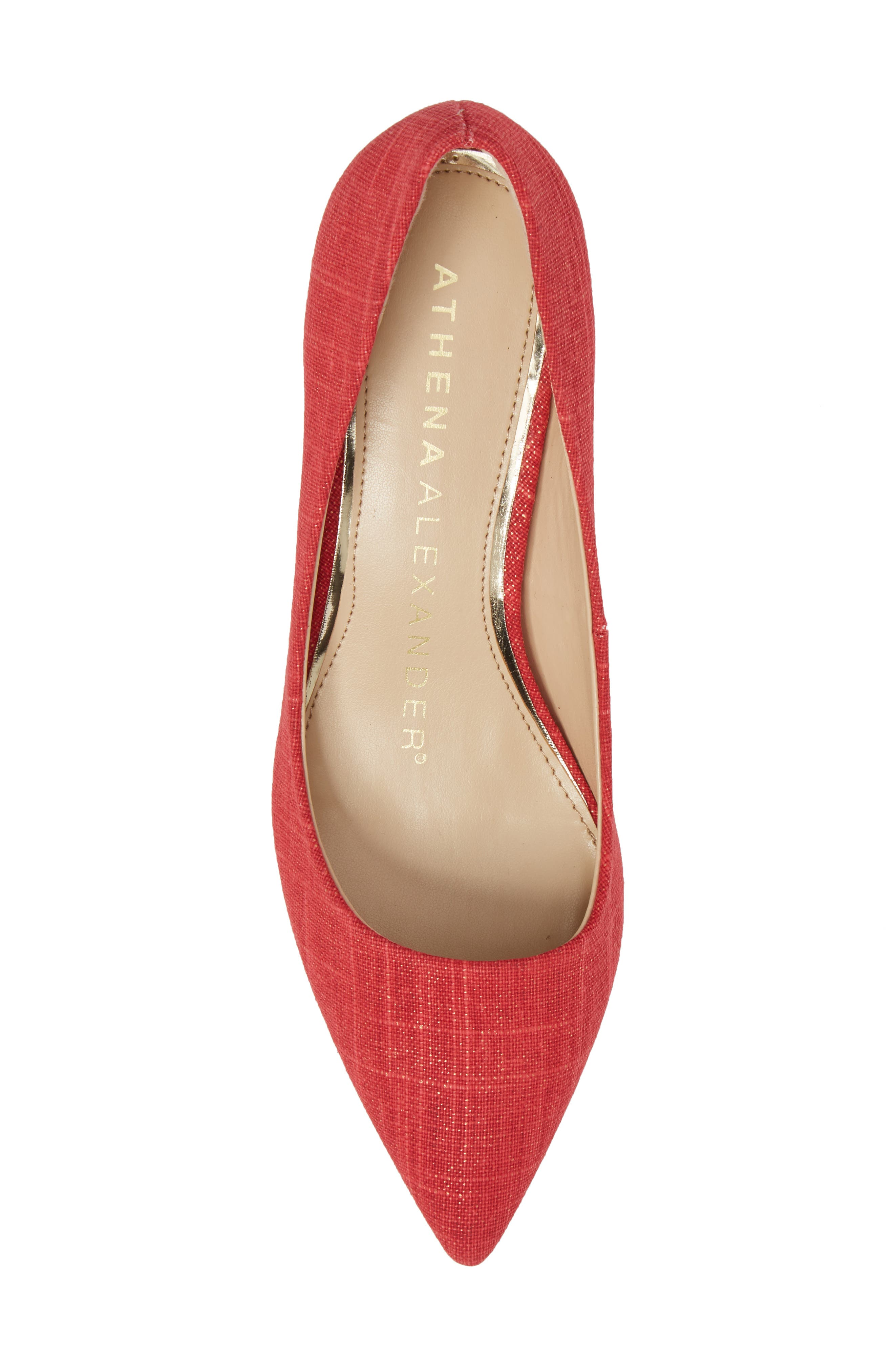Target Kitten Heel Pump,                             Alternate thumbnail 5, color,                             Red Fabric