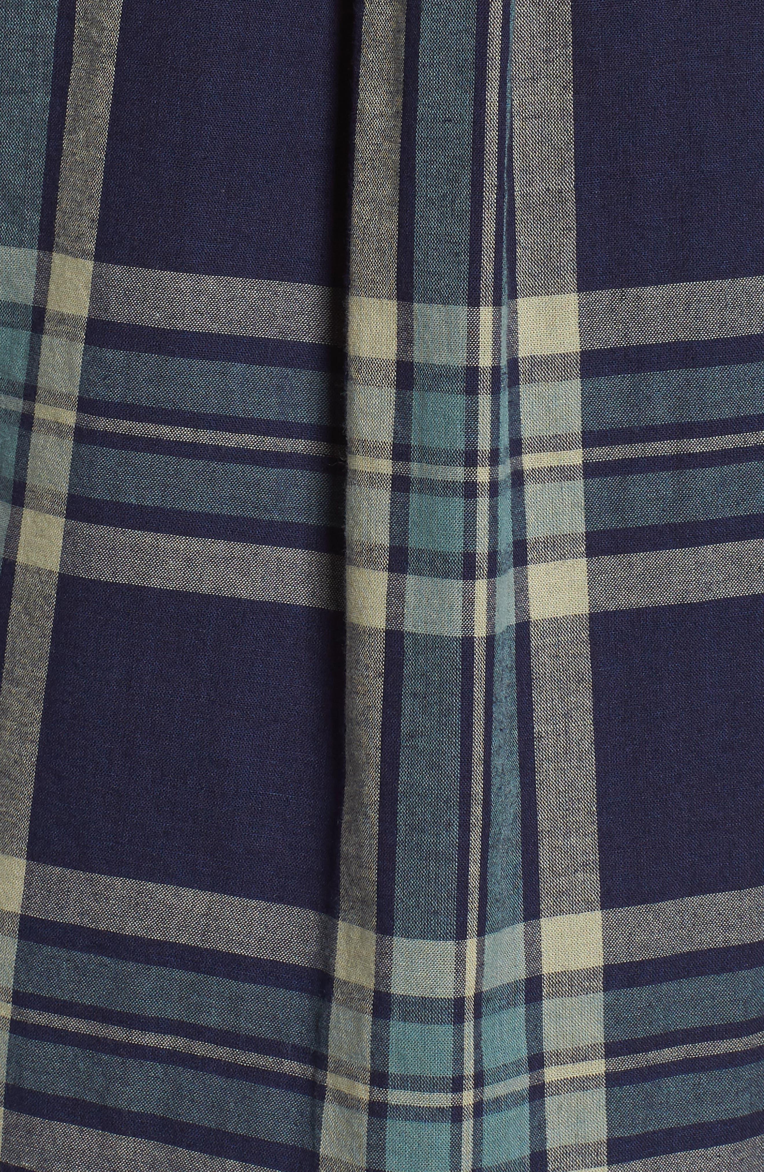 Thomas Kay Double Face Shirt,                             Alternate thumbnail 5, color,                             Indigo Plaid