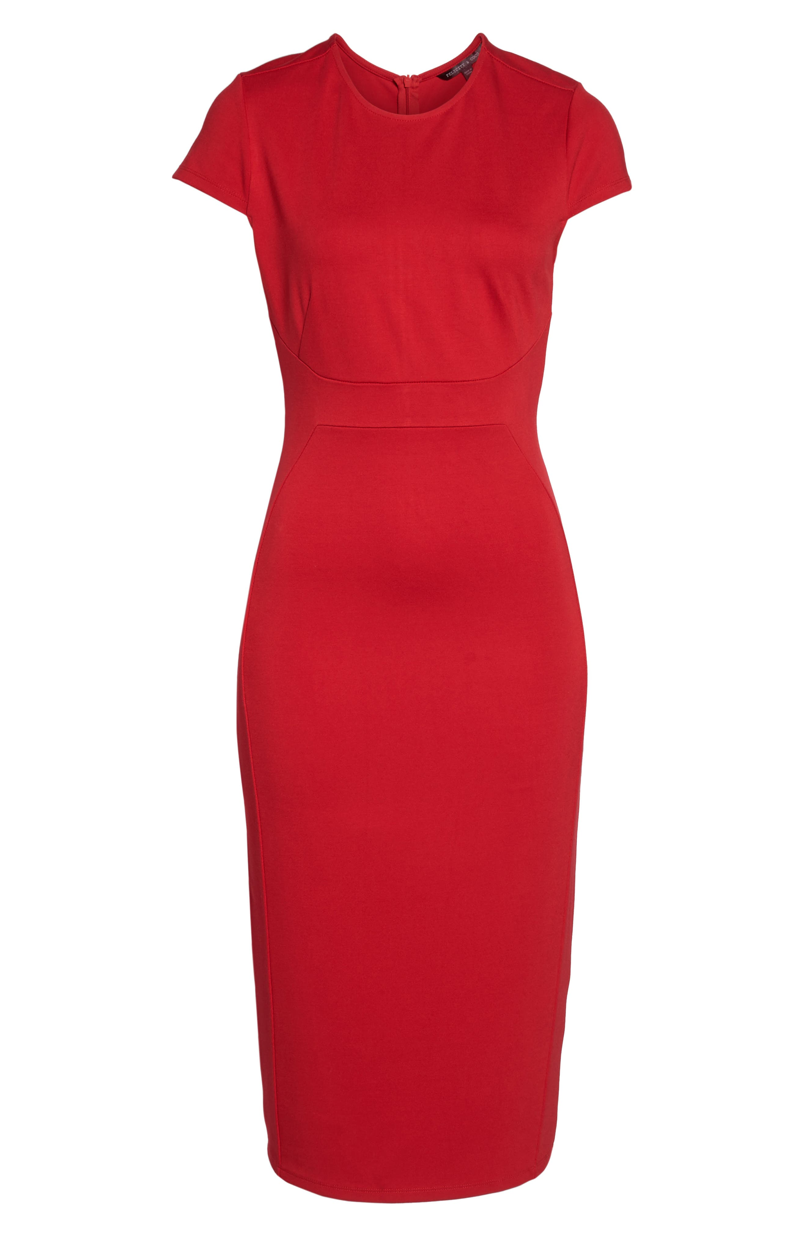 Austin Sheath Dress,                             Alternate thumbnail 6, color,                             Tango Red