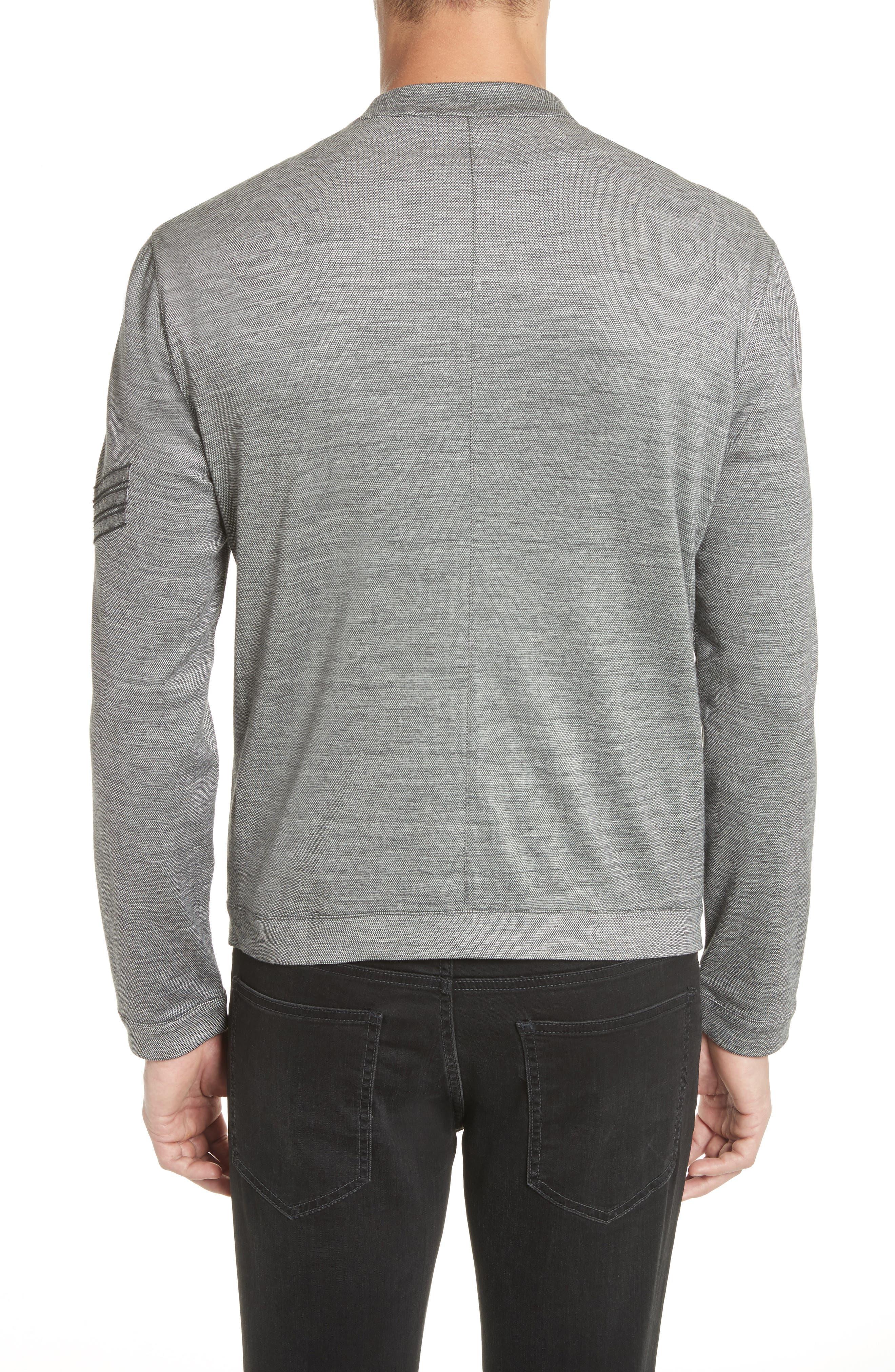 Zip Baseball Jacket,                             Alternate thumbnail 2, color,                             Med Grey