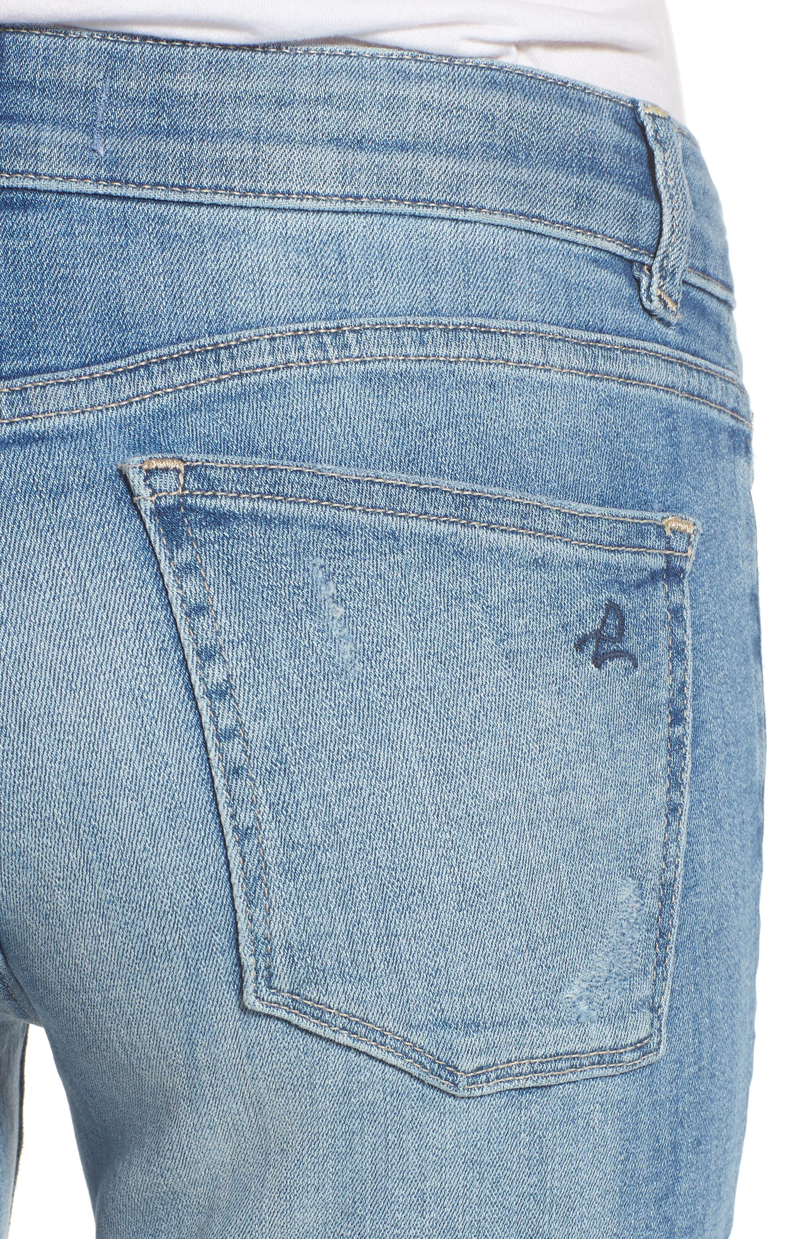 Mara Instasculpt Ankle Straight Leg Jeans,                             Alternate thumbnail 4, color,                             Montague
