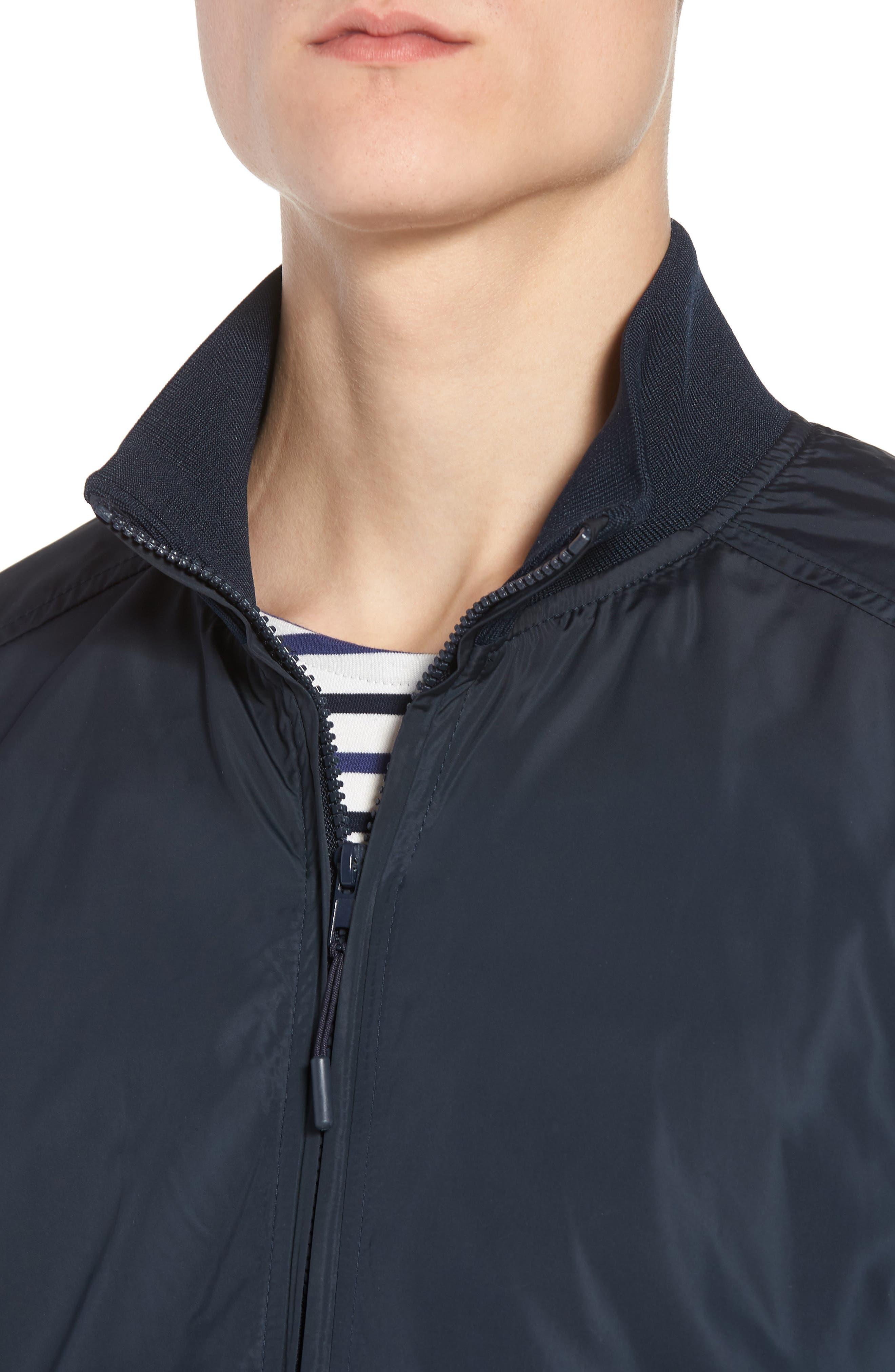 Classic Fit Track Jacket,                             Alternate thumbnail 4, color,                             Dark Blue