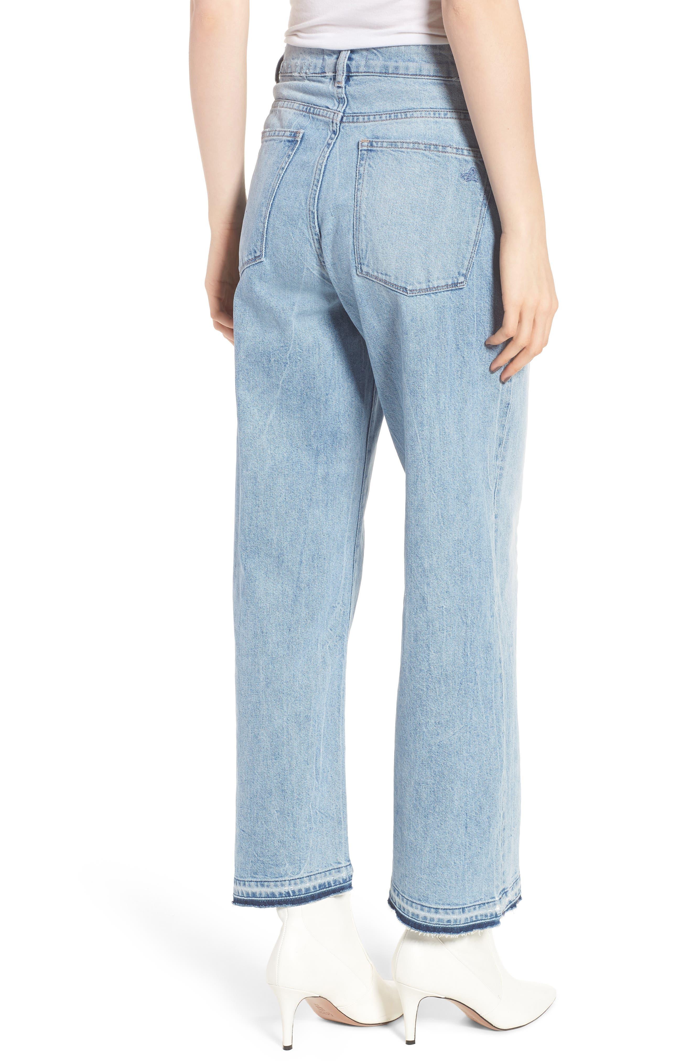Hepburn High Waist Wide Leg Jeans,                             Alternate thumbnail 3, color,                             Oldtown