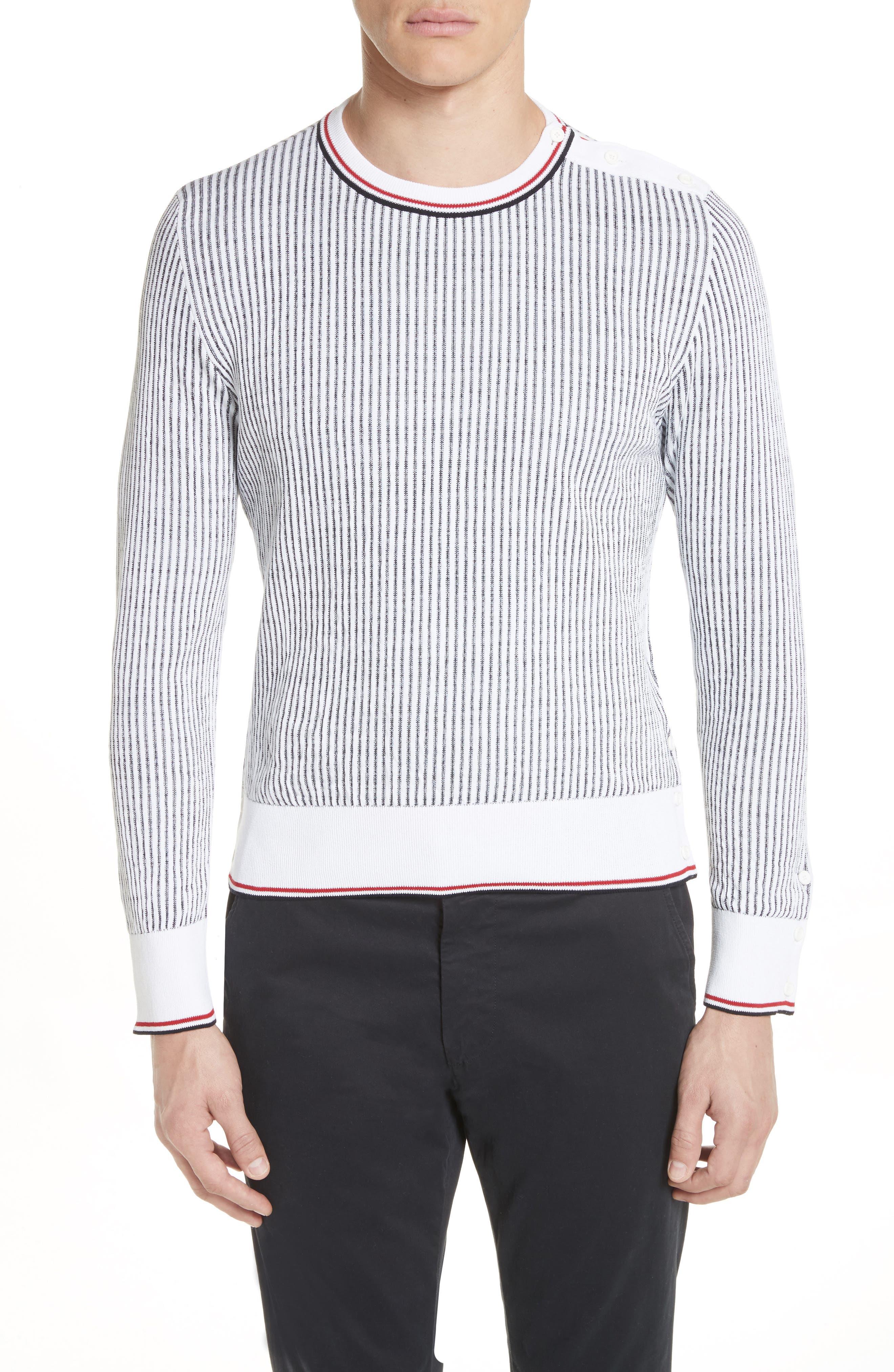 Thom Browne Stripe Crewneck Sweater