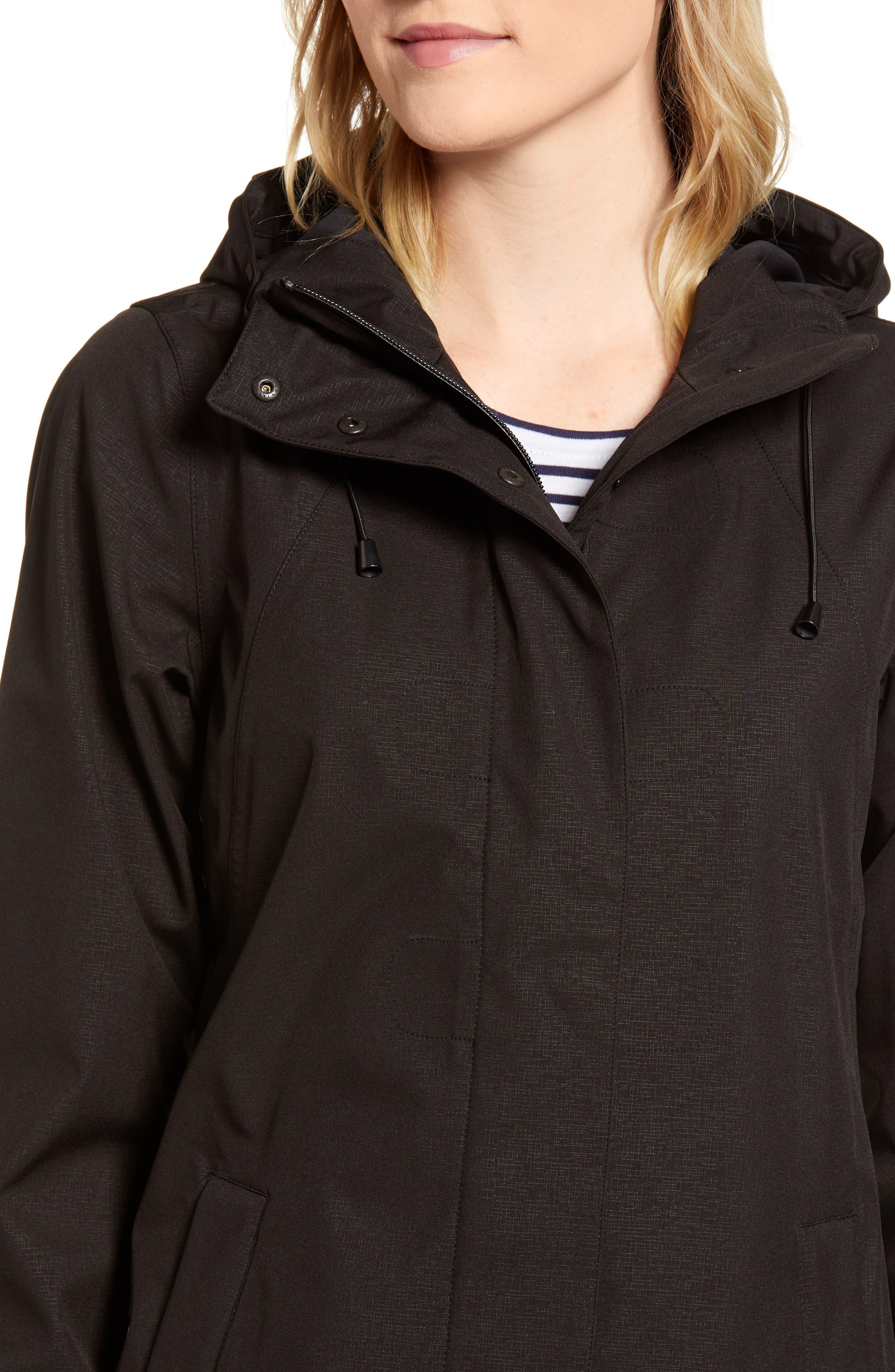 Soft Shell Raincoat,                             Alternate thumbnail 4, color,                             Black