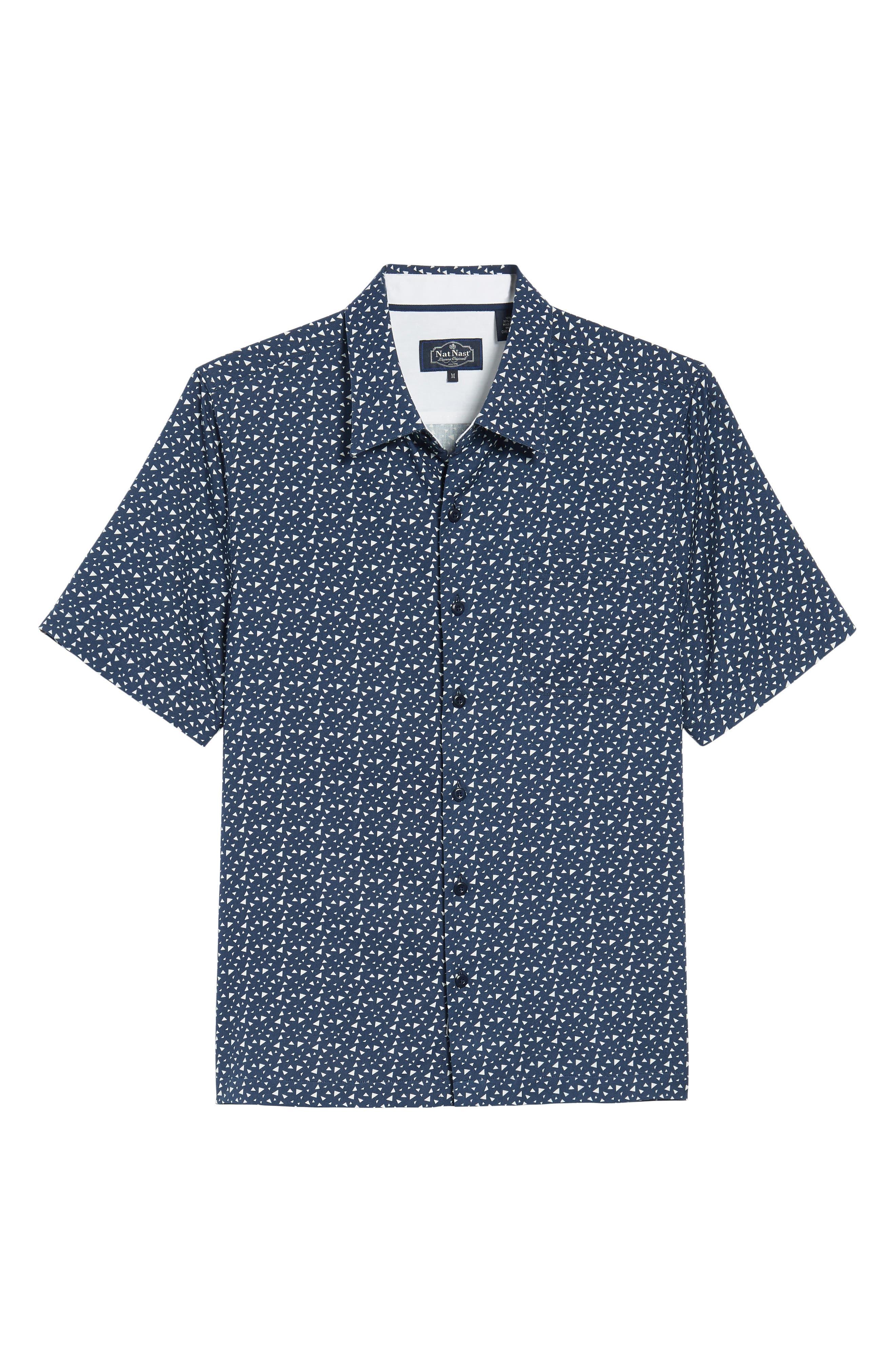Bermuda Triangle Camp Shirt,                             Alternate thumbnail 6, color,                             Nat Blue
