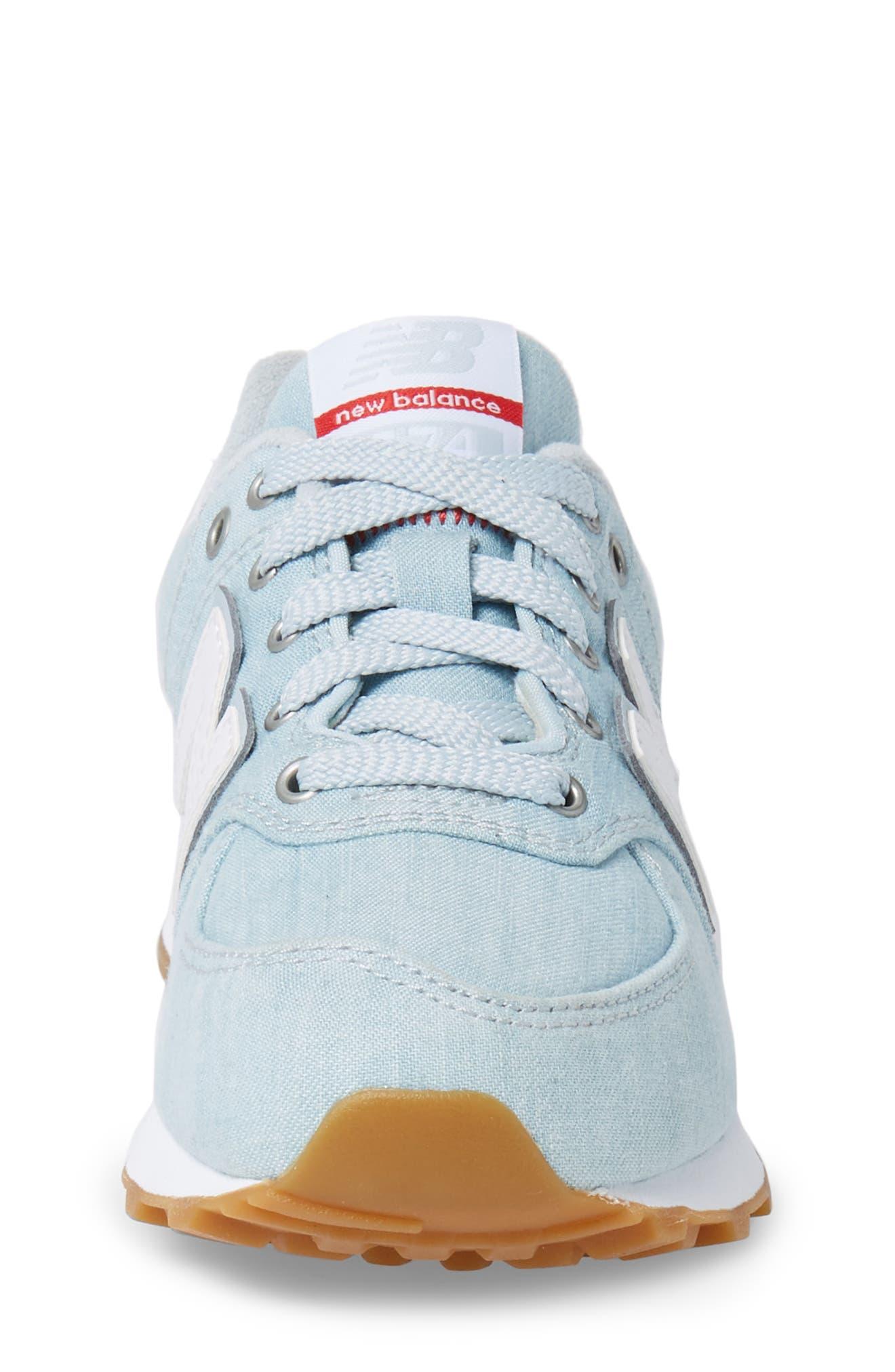 574v1 Sneaker,                             Alternate thumbnail 4, color,                             Light Porcelain Blue