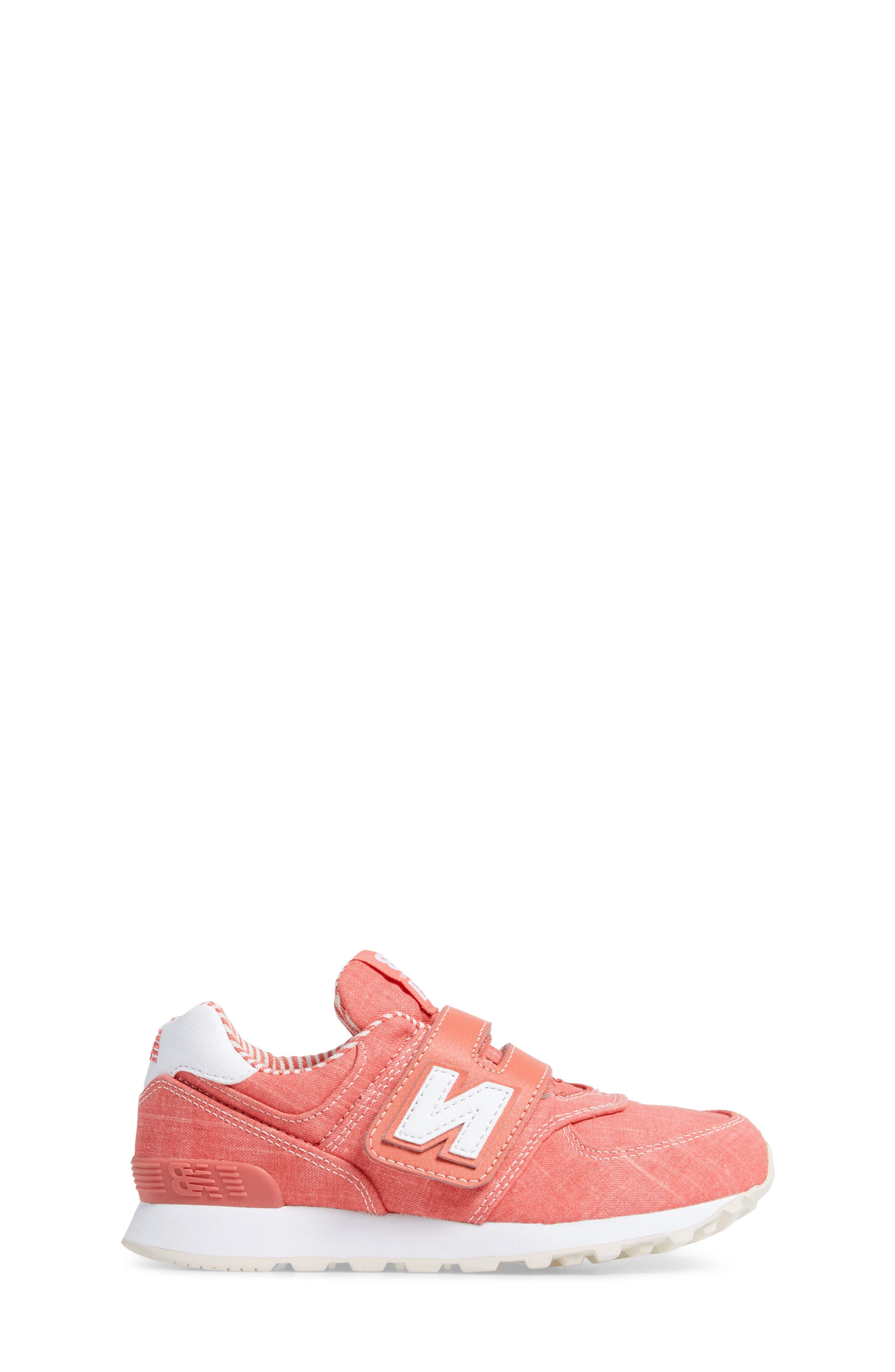 574v1 Sneaker,                             Alternate thumbnail 3, color,                             Coral