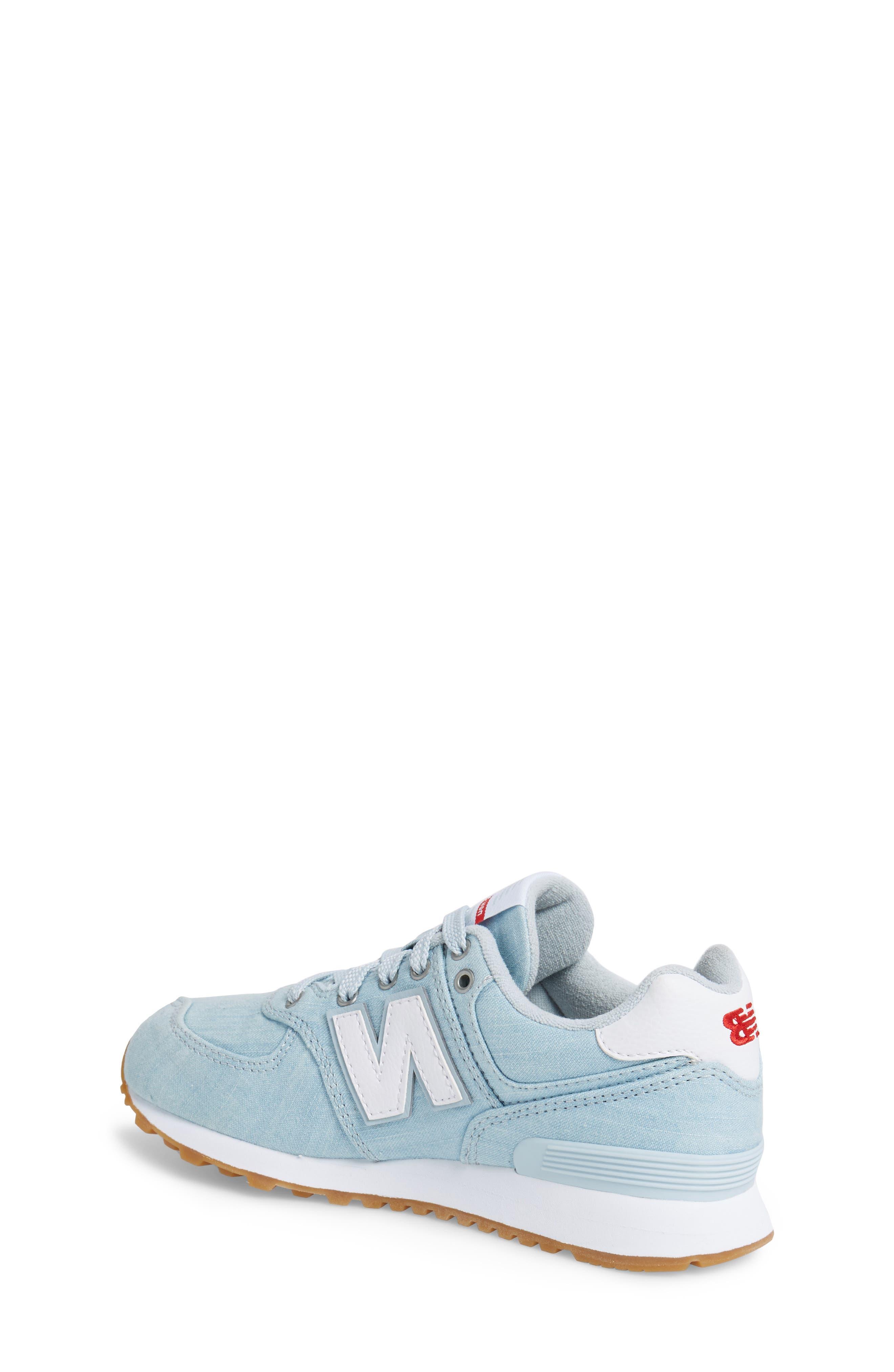 574v1 Sneaker,                             Alternate thumbnail 2, color,                             Light Porcelain Blue