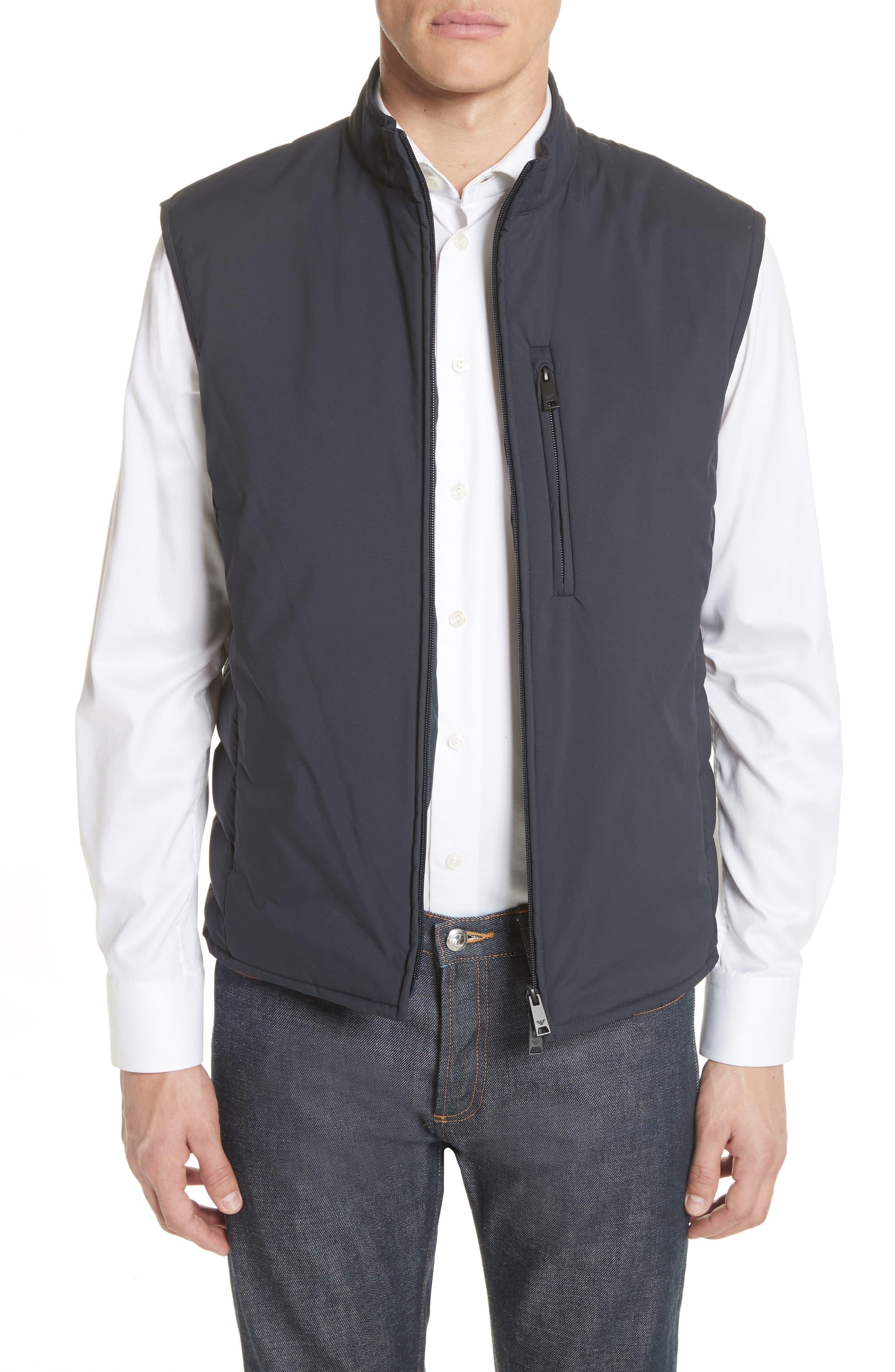 Main Image - Emporio Armani Quilted Microfiber Vest