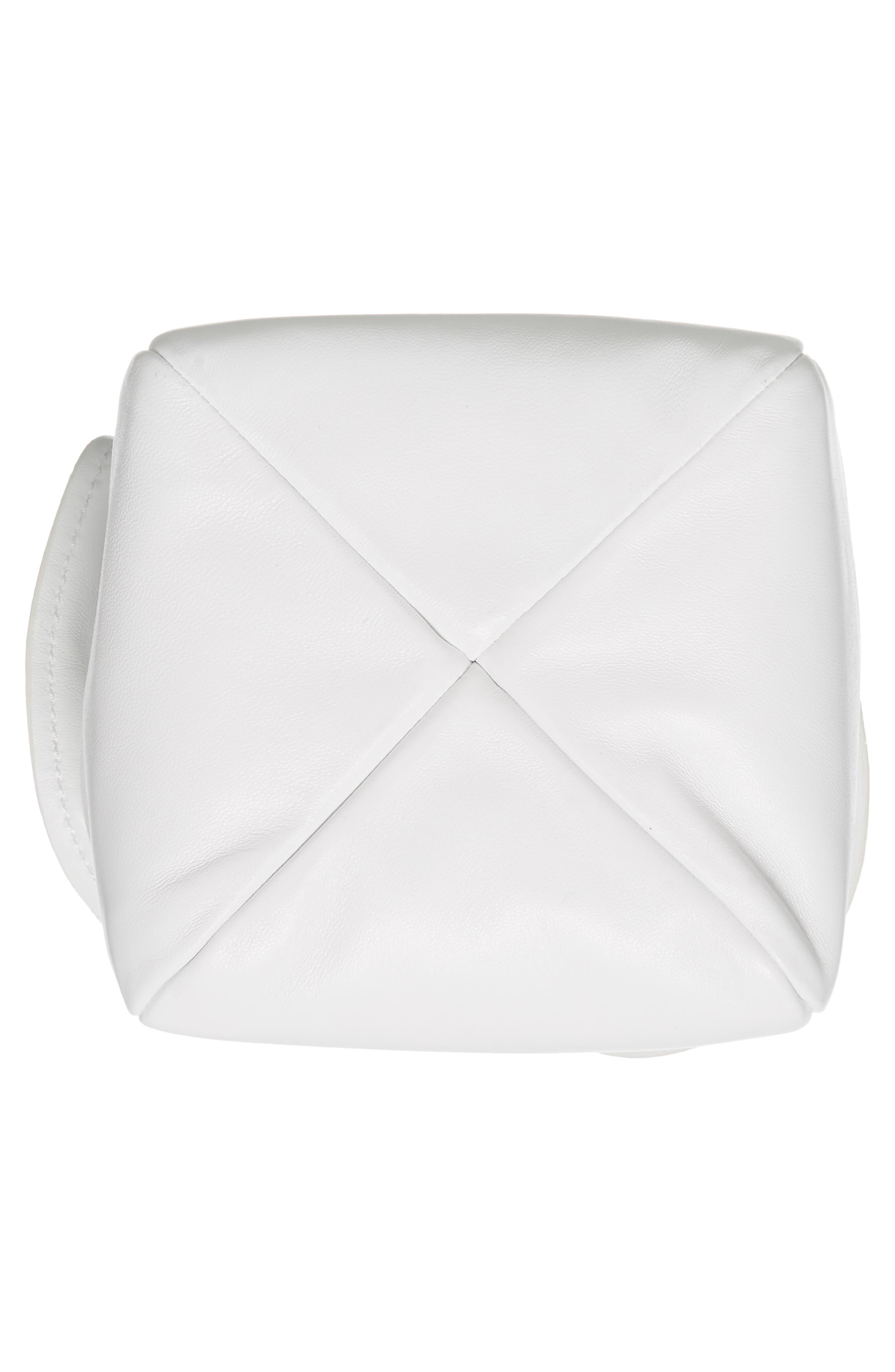Ray Mini Lambskin Glove Pouch,                             Alternate thumbnail 6, color,                             Optic White