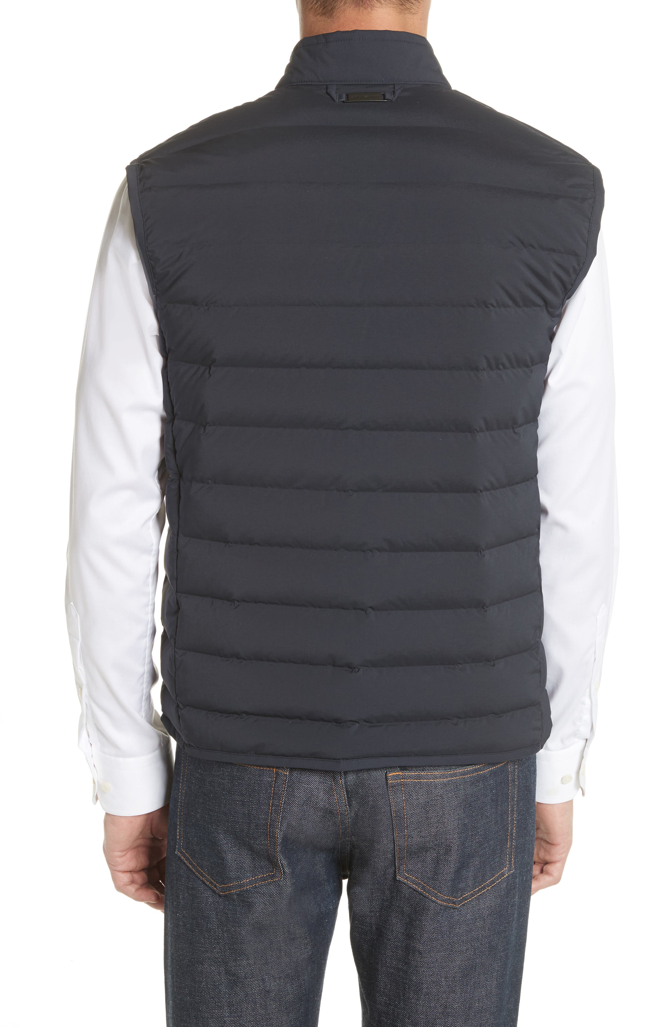 Quilted Microfiber Vest,                             Alternate thumbnail 2, color,                             Navy