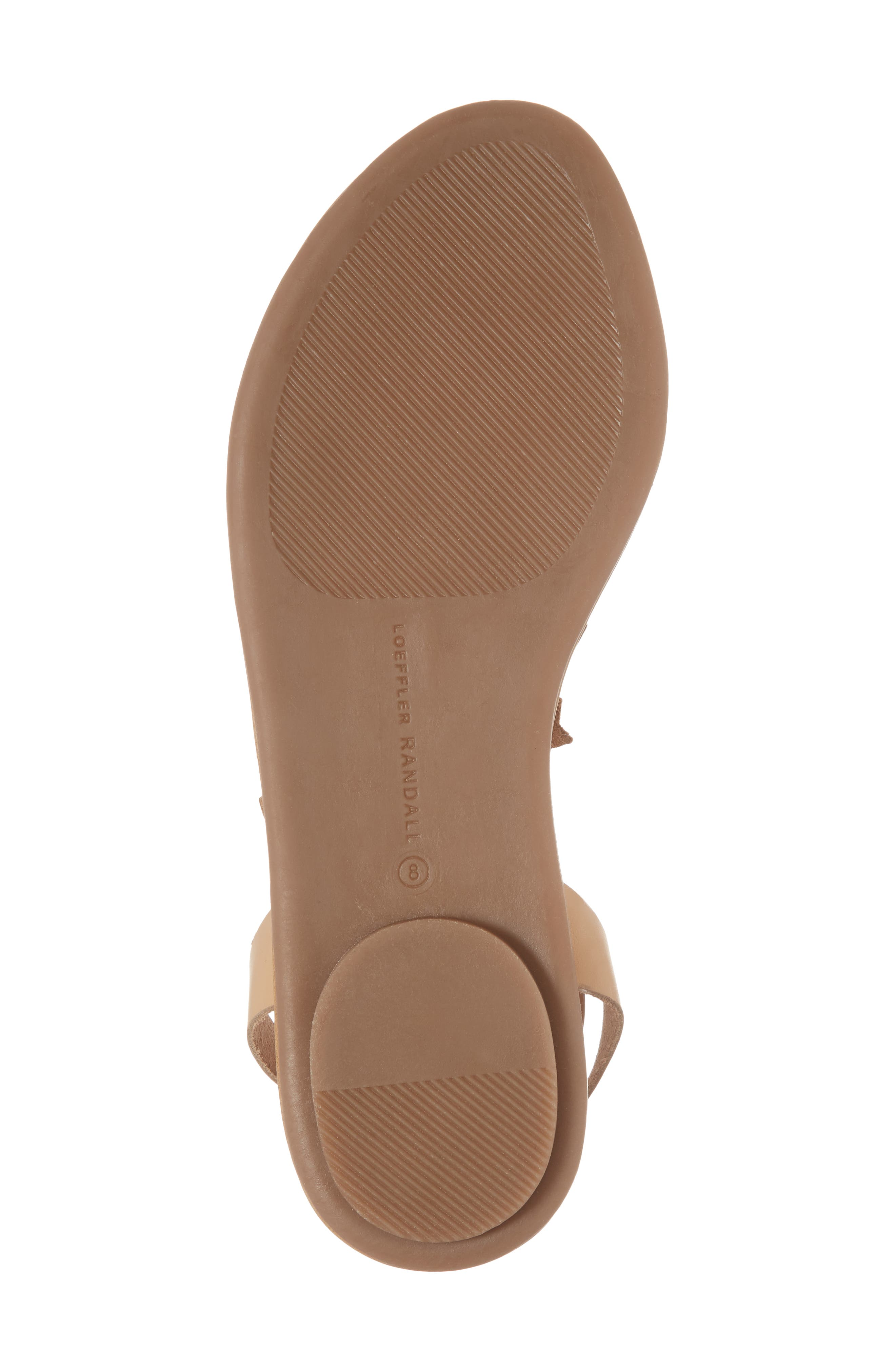 Starla Ankle Wrap Sandal,                             Alternate thumbnail 6, color,                             Wheat