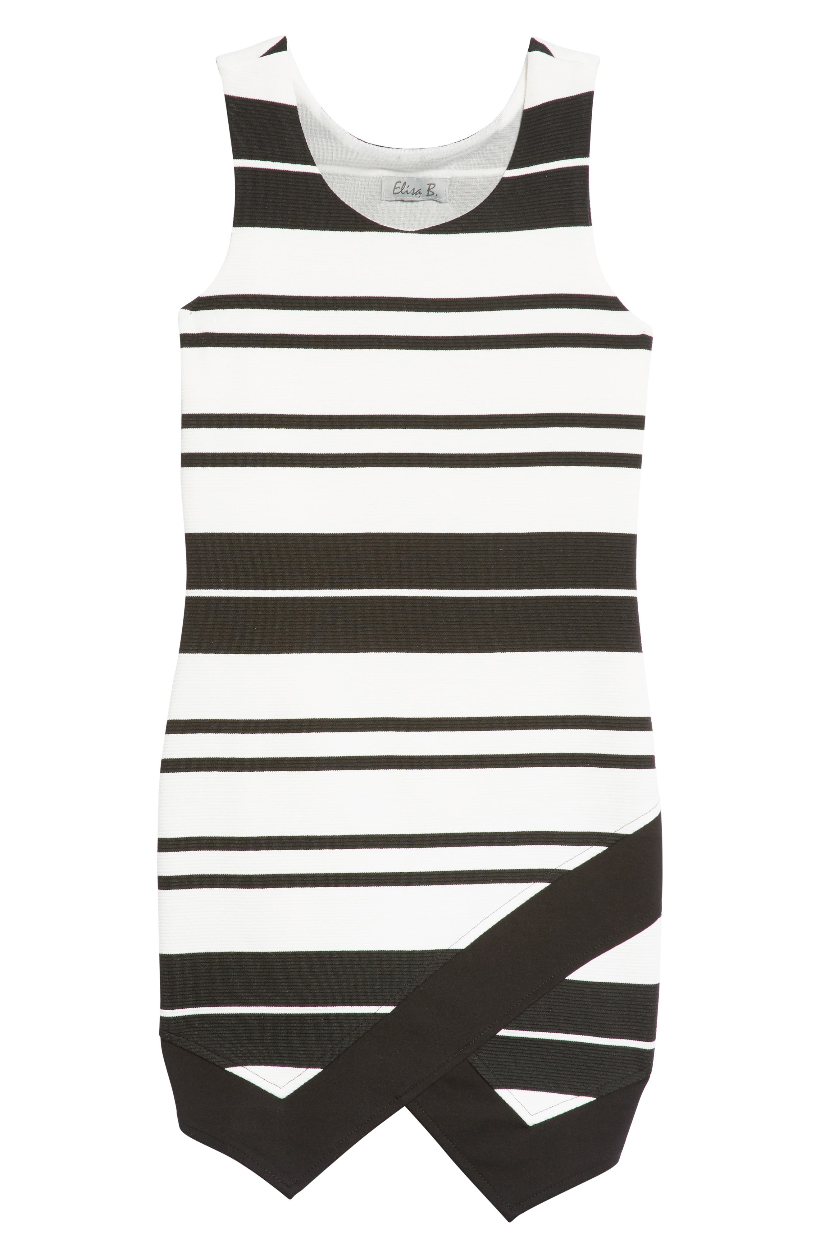 Main Image - Elisa B Novelty Texture Knit Dress (Big Girls)