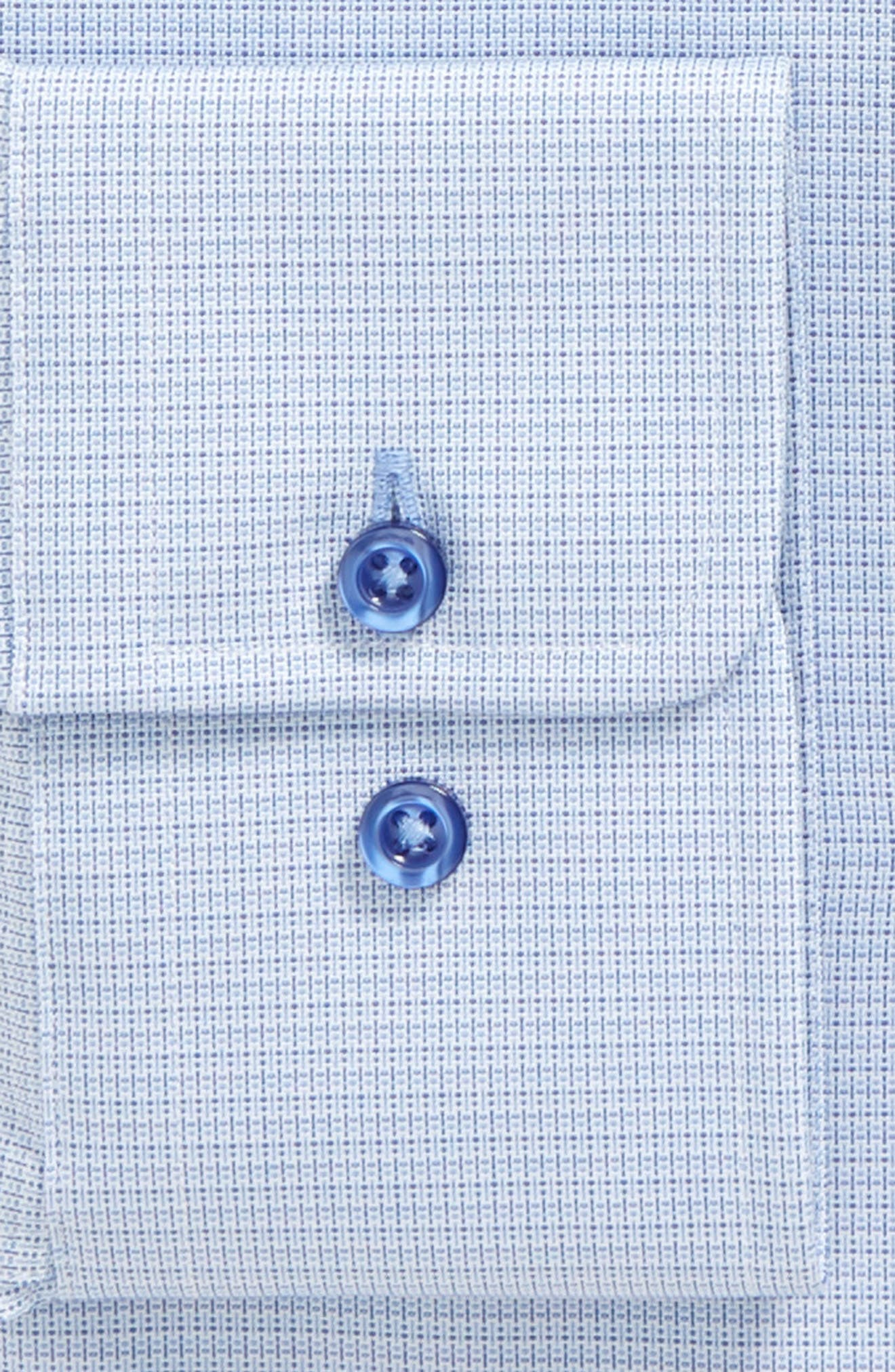 Alternate Image 2  - David Donahue Print Slim Fit Dress Shirt