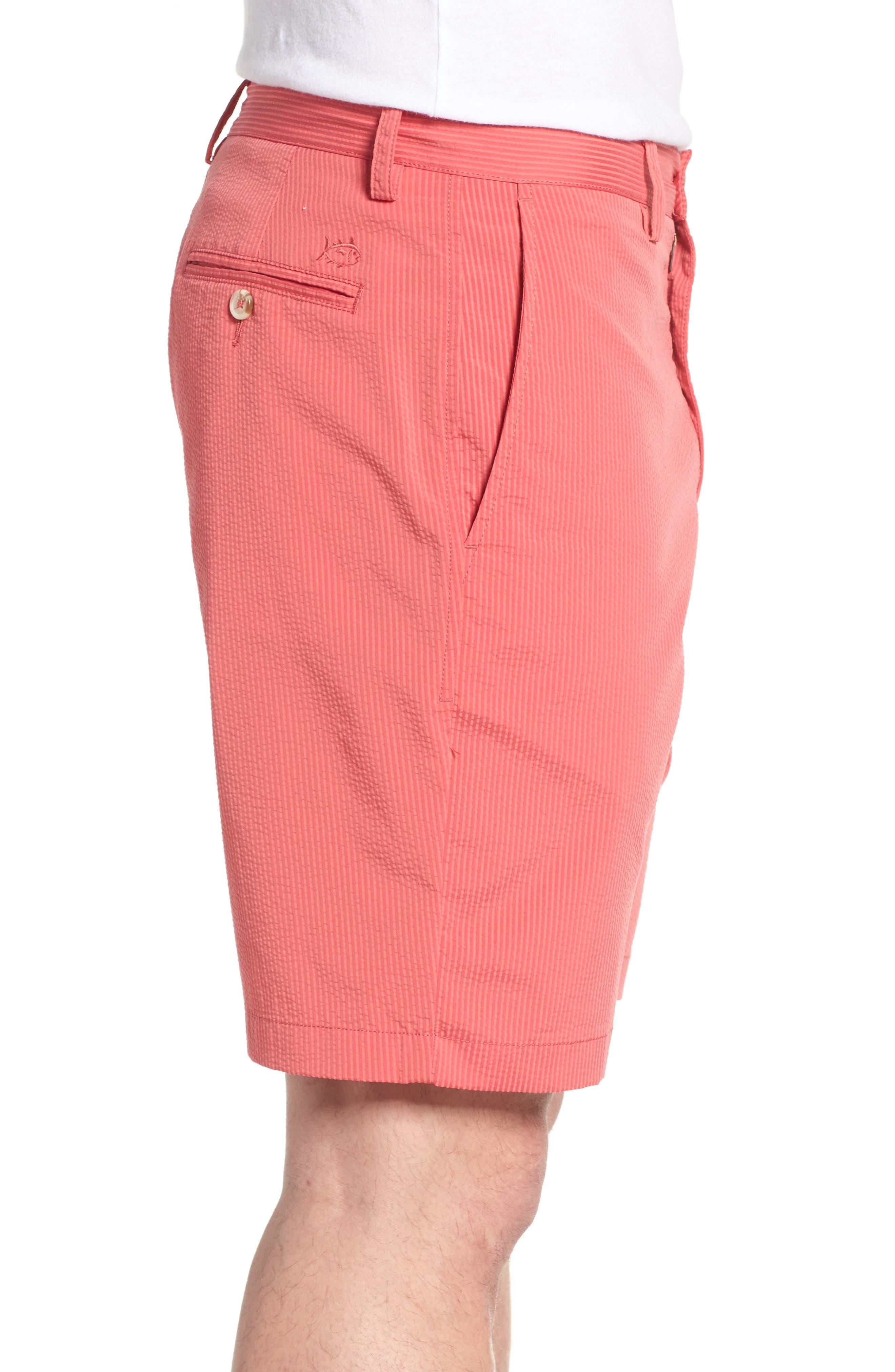 Seersucker Shorts,                             Alternate thumbnail 3, color,                             Charleston Red