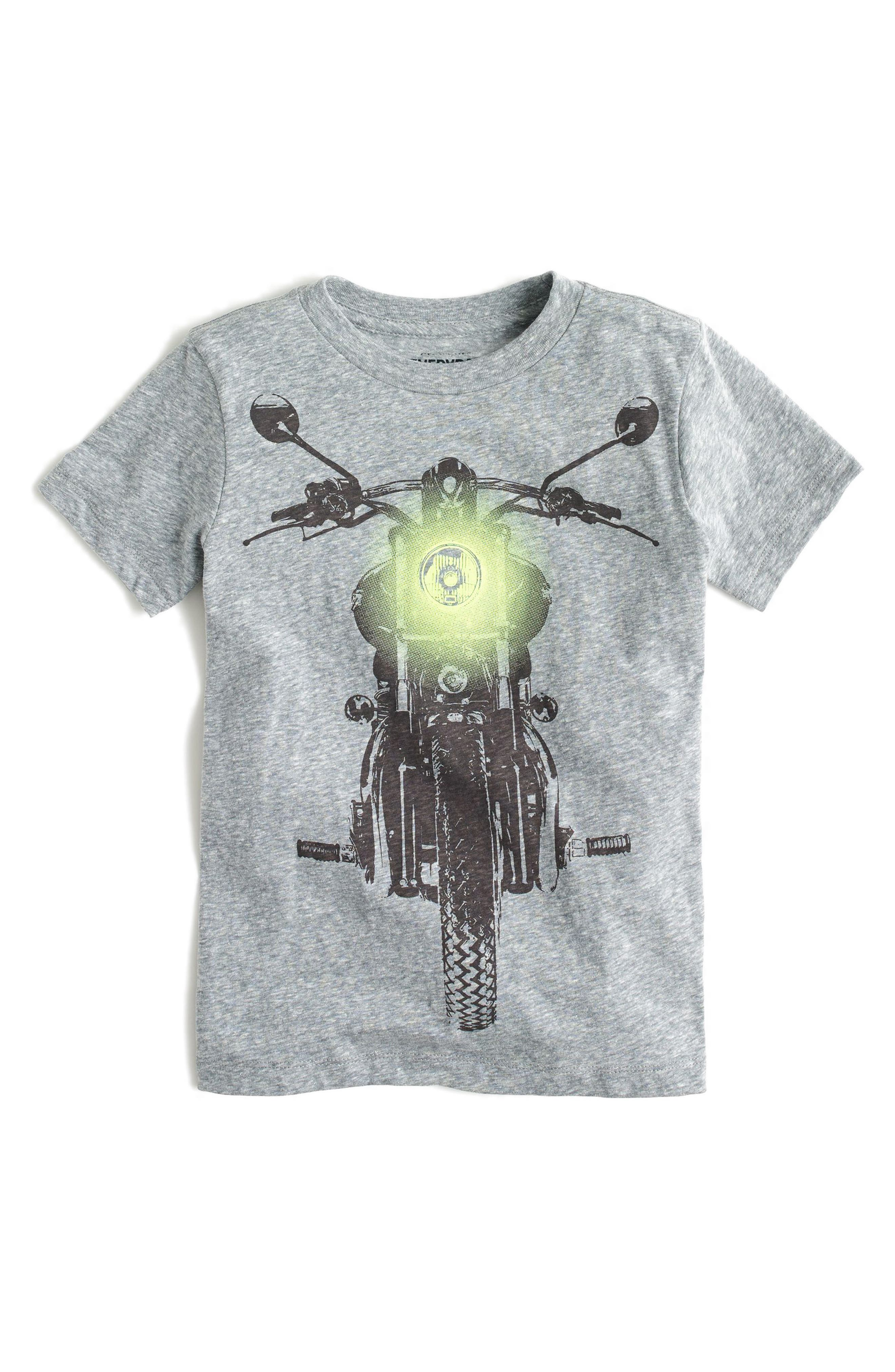 Glow in the Dark Motorcycle Graphic T-Shirt,                             Main thumbnail 1, color,                             Dark Boulder