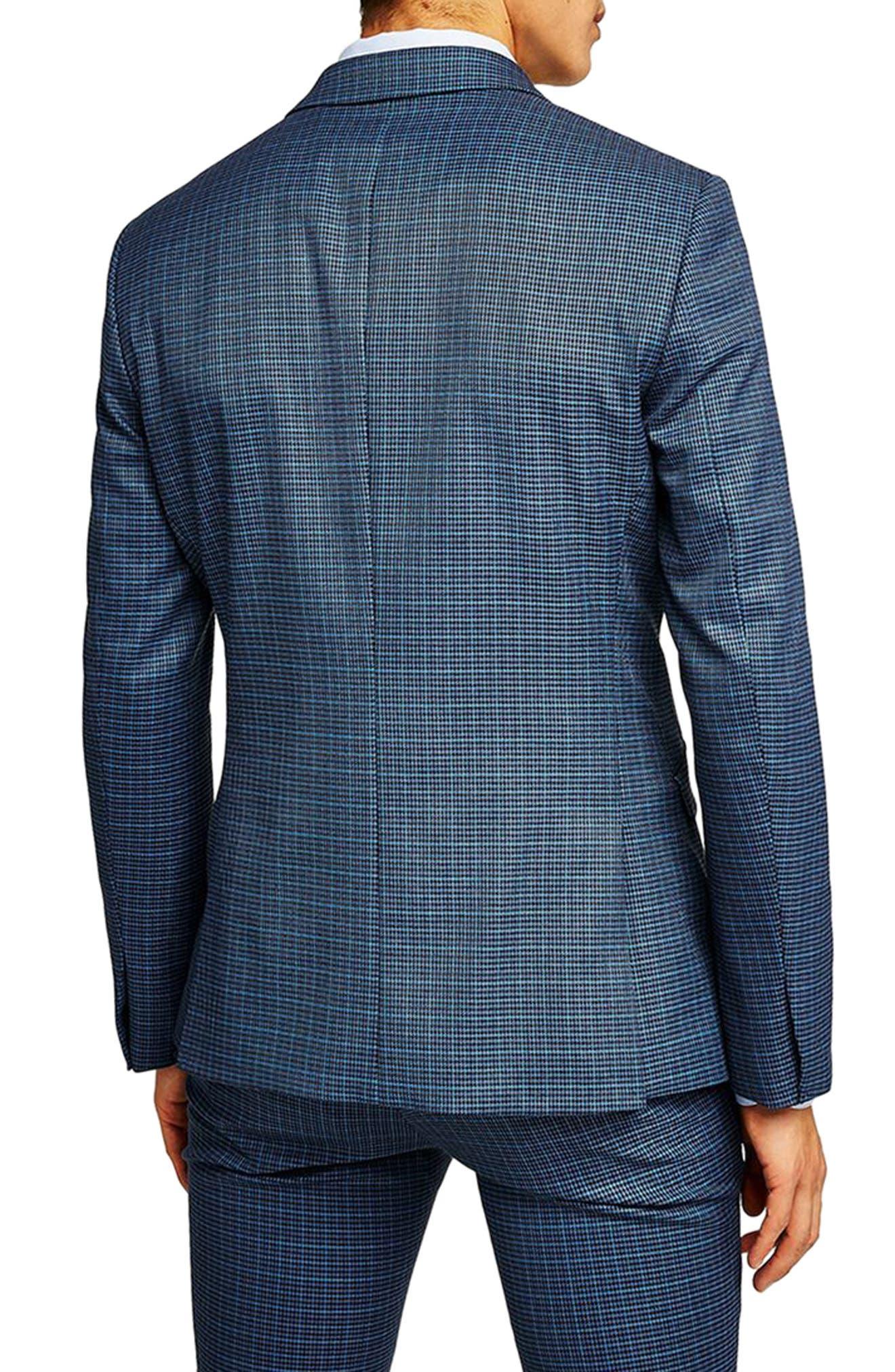 Alternate Image 3  - Topman Check Skinny Fit Suit Jacket