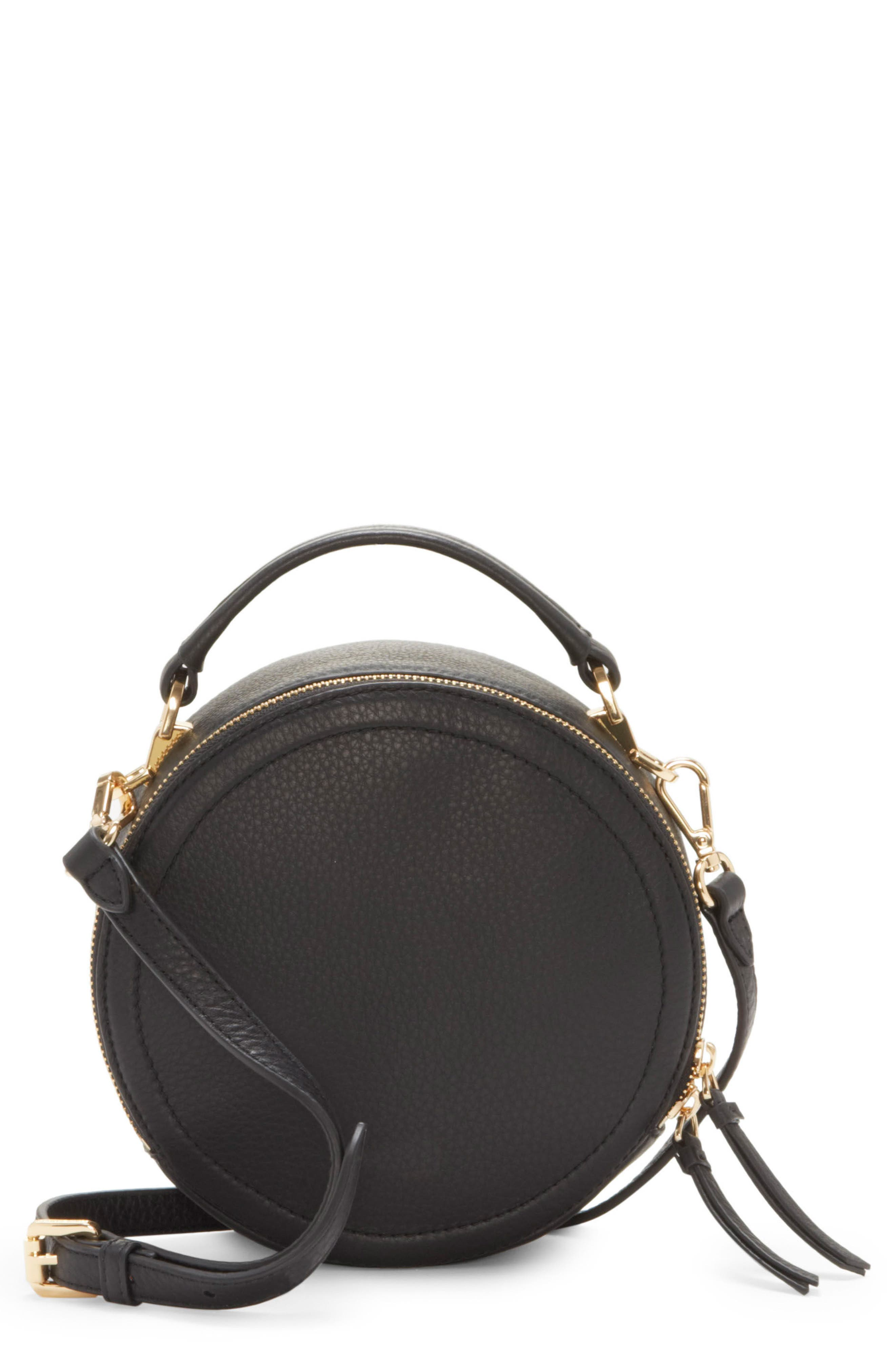 Bray Leather Crossbody Bag,                             Main thumbnail 1, color,                             Black