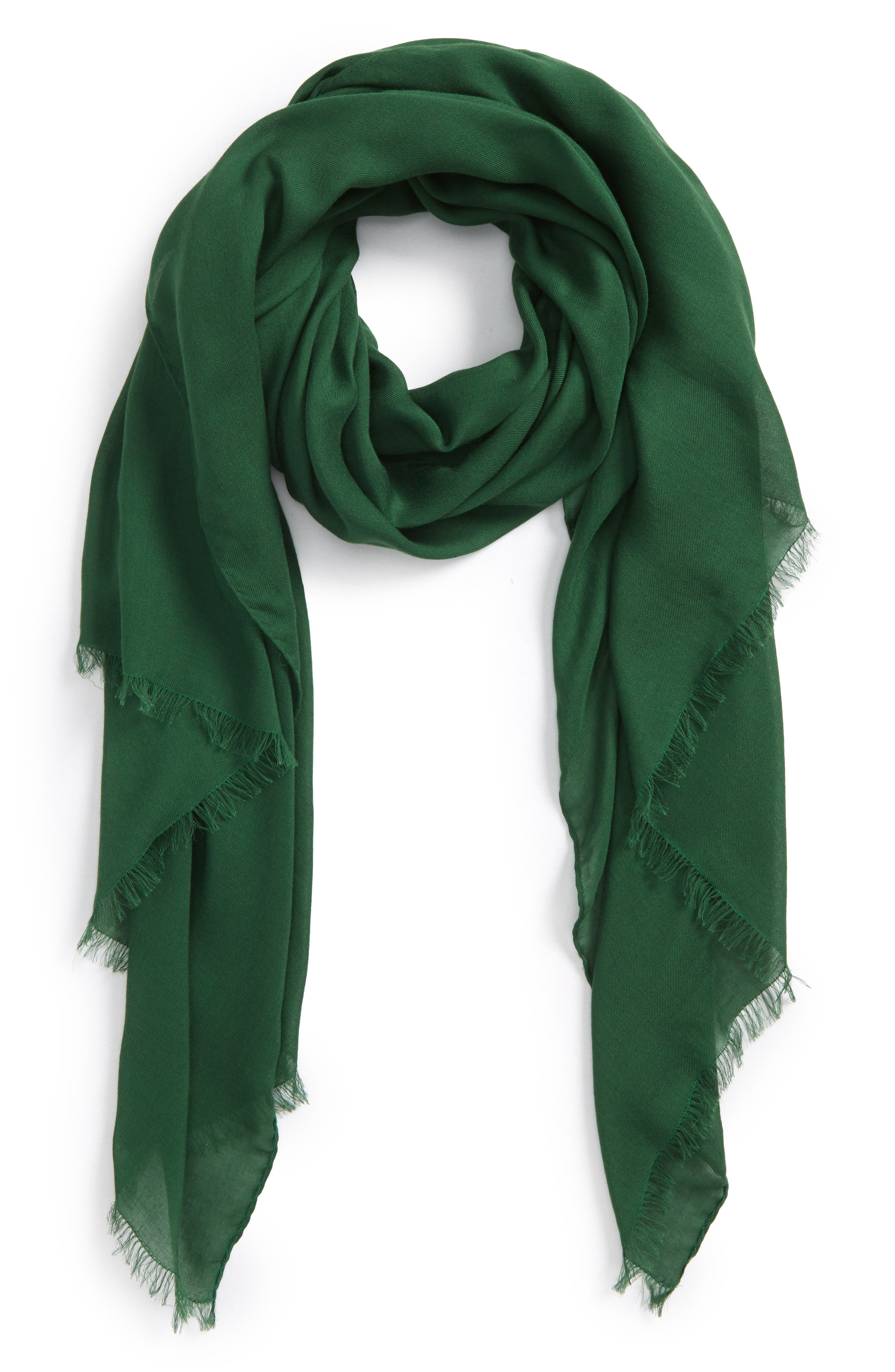Solid Scarf,                         Main,                         color, Green