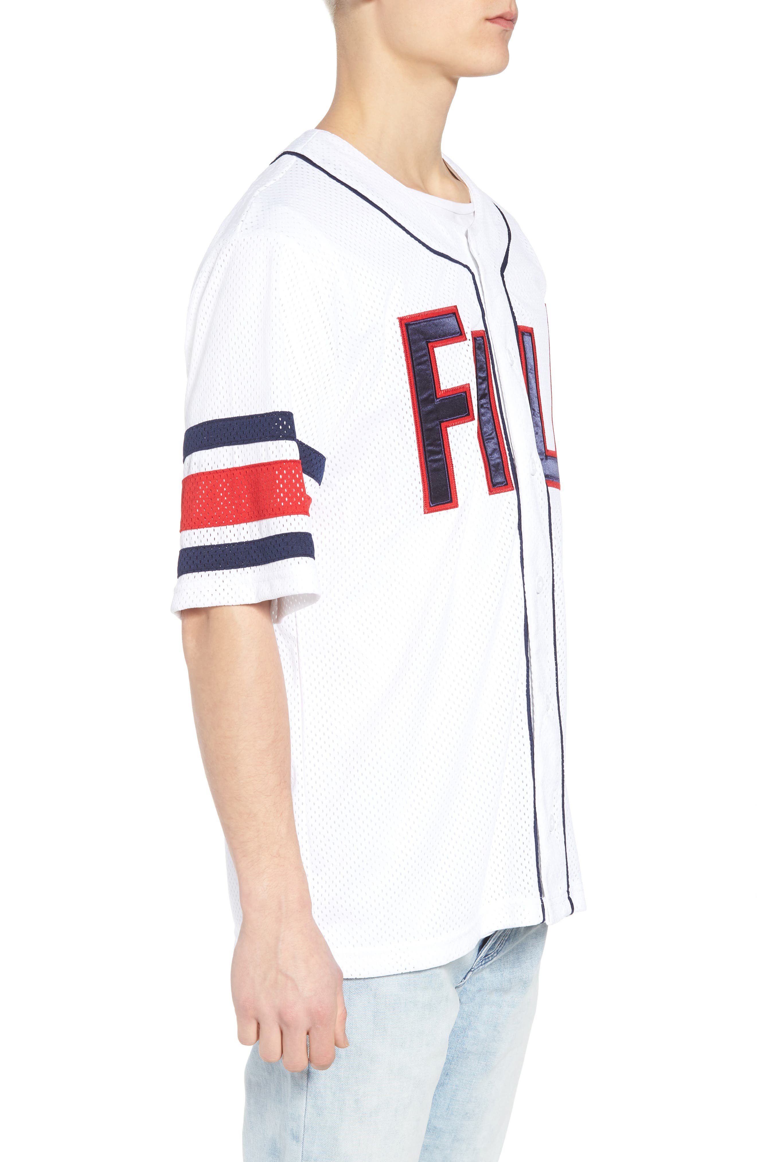Kyler Baseball Jersey,                             Alternate thumbnail 3, color,                             White/ Peacoat/ Chinese Red