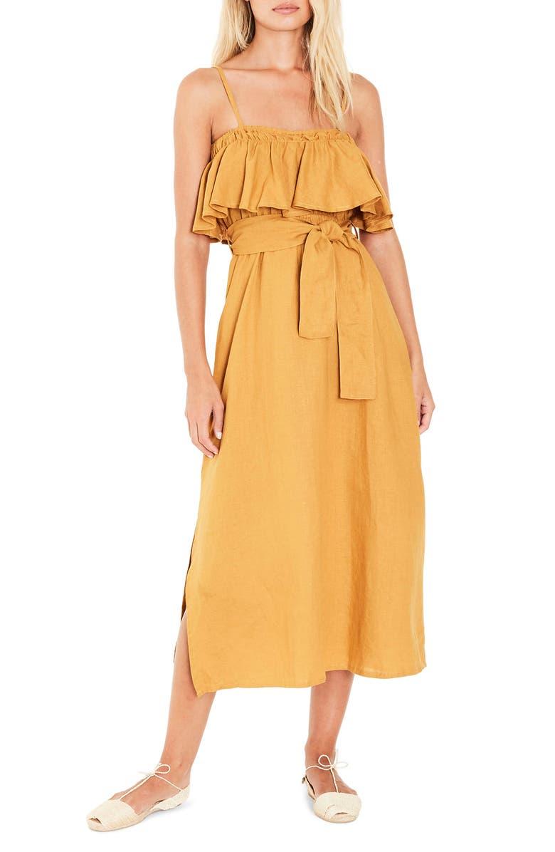 Santo Linen Midi Dress
