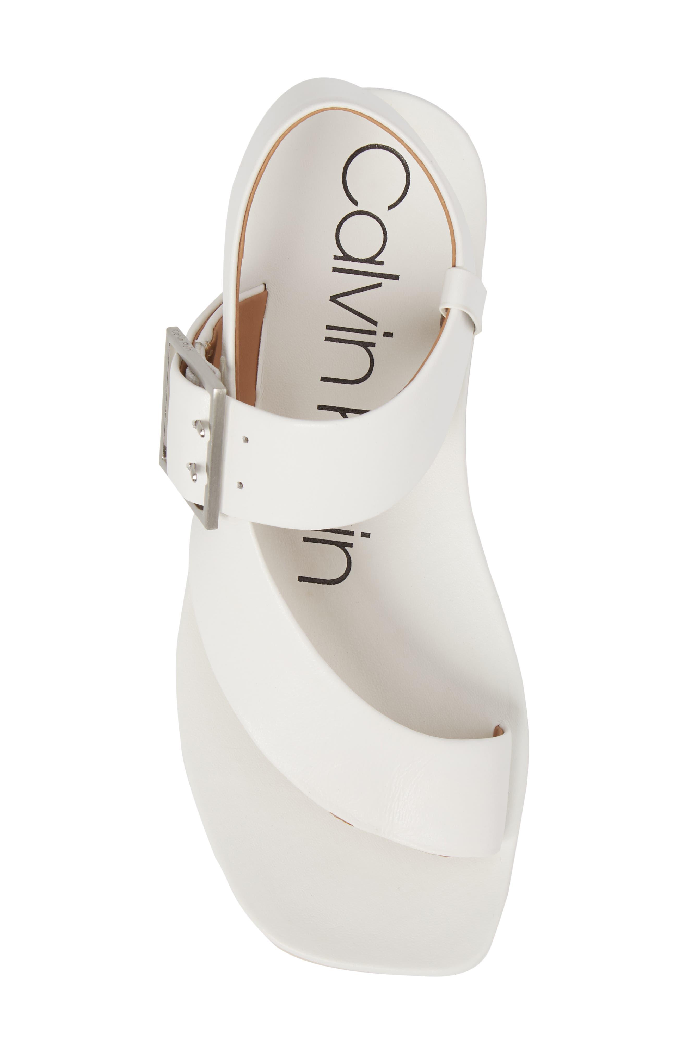 Rivita Sandal,                             Alternate thumbnail 5, color,                             Platinum White Leather