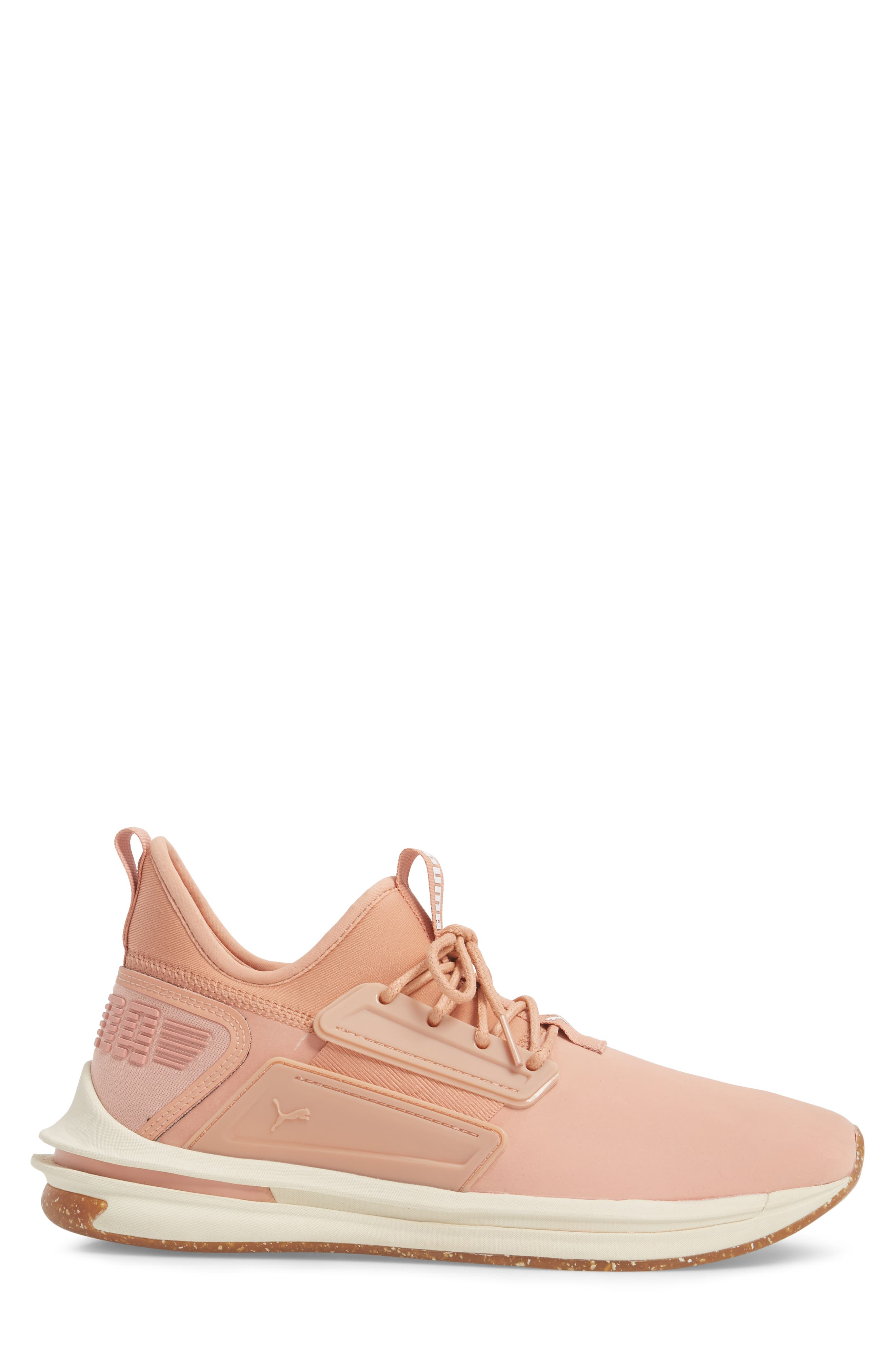 IGNITE Limitless SR Nature Sneaker,                             Alternate thumbnail 3, color,                             Muted Clay Leather/ Suede