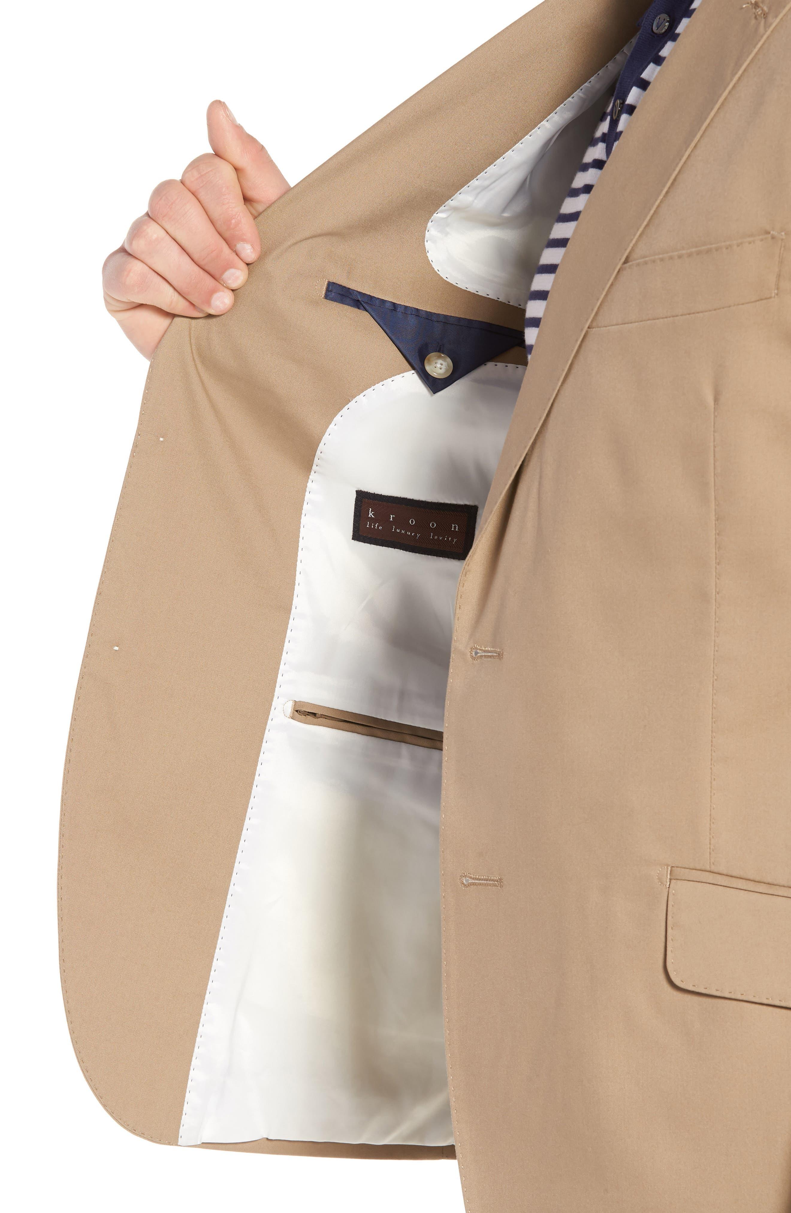 Irons AIM Classic Fit Solid Cotton Blend Suit,                             Alternate thumbnail 4, color,                             Khaki