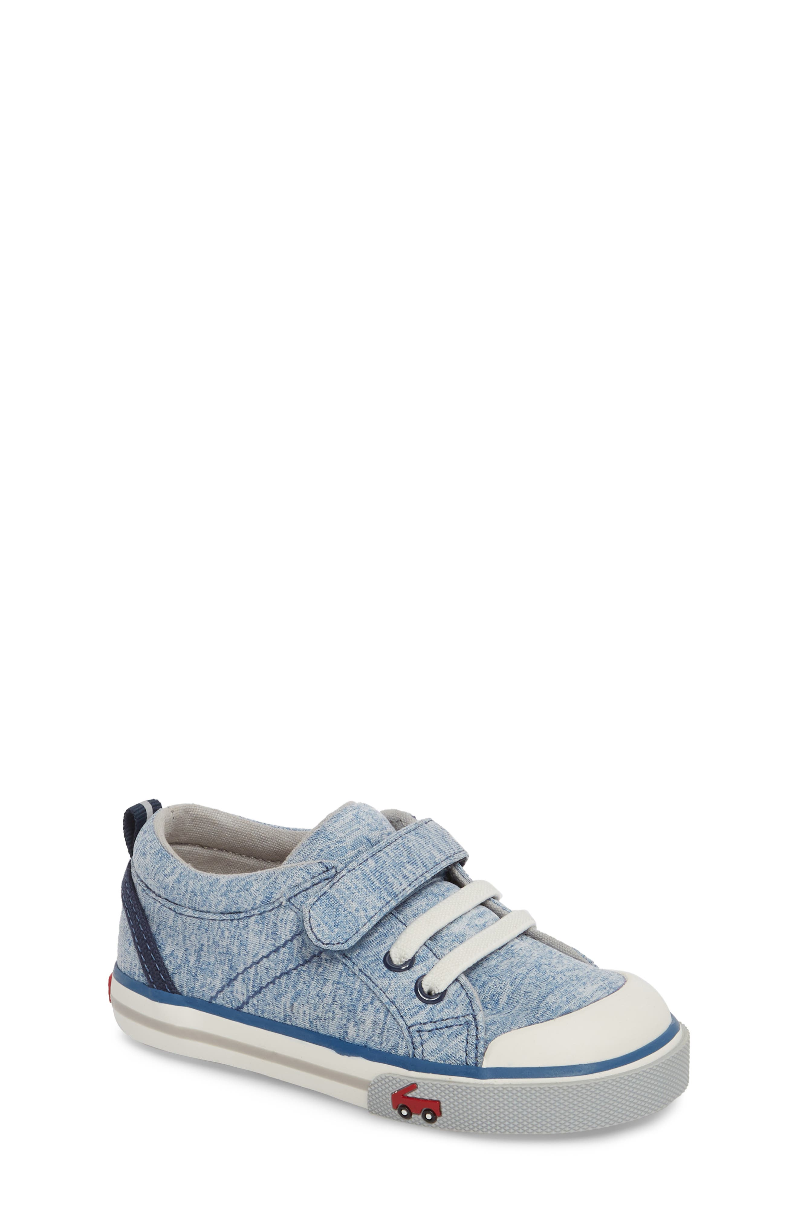 Tanner Sneaker,                         Main,                         color, Blue Jersey