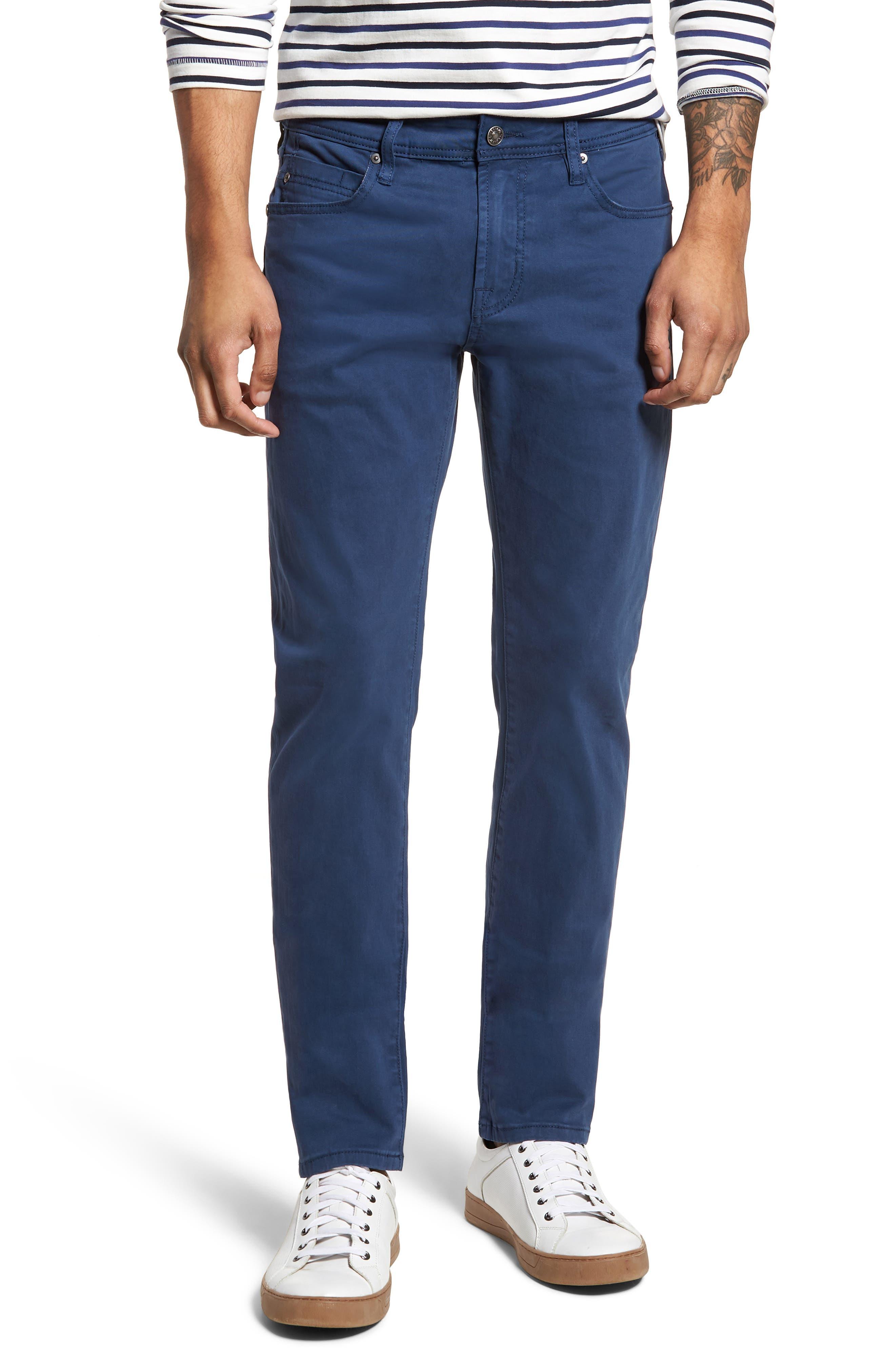 Alternate Image 1 Selected - Liverpool Jeans Co. Kingston Slim Straight Leg Jeans (Blue Twilight)