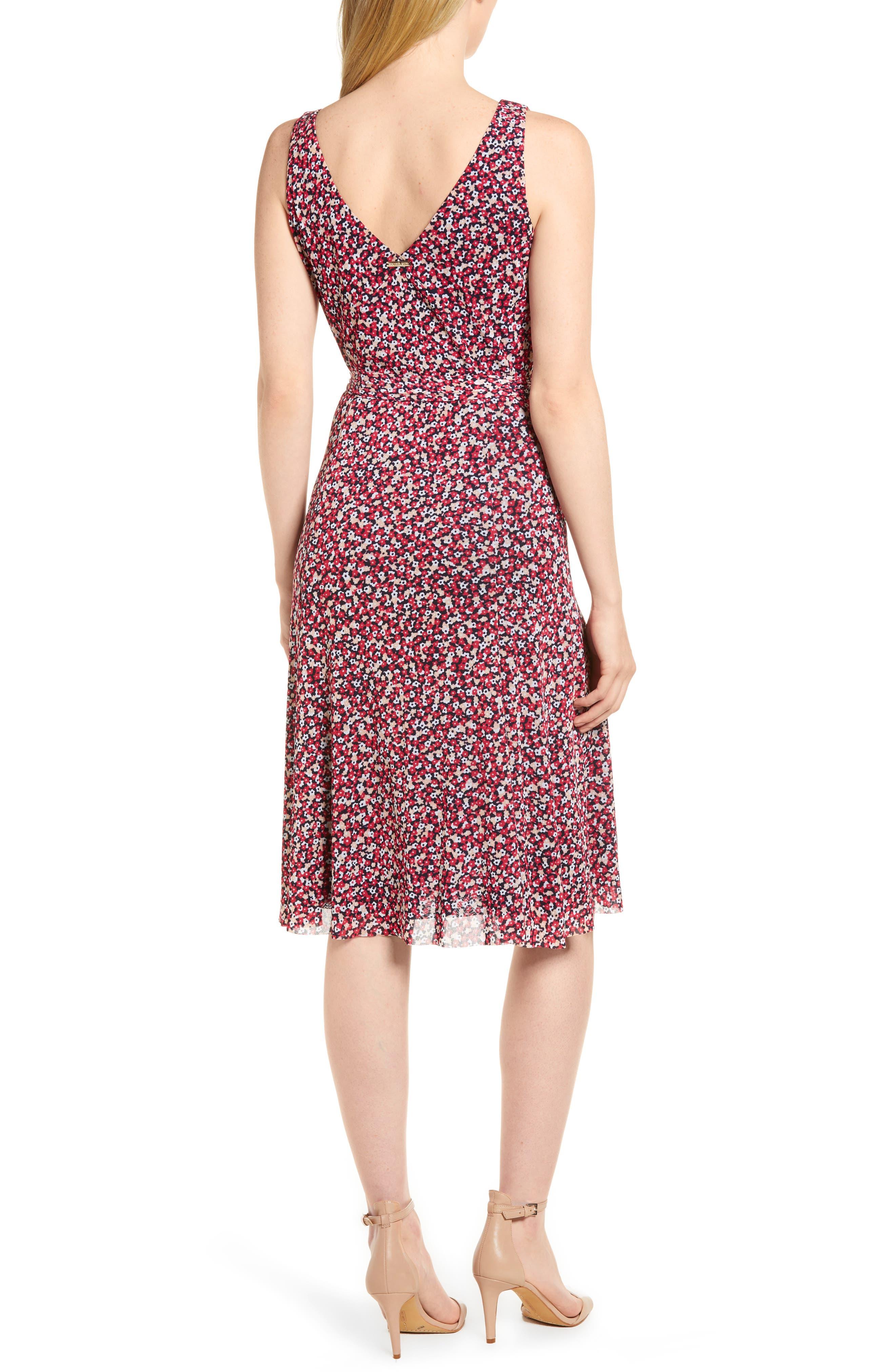 Floral Tank Dress,                             Alternate thumbnail 2, color,                             True Navy/ Bright Blush