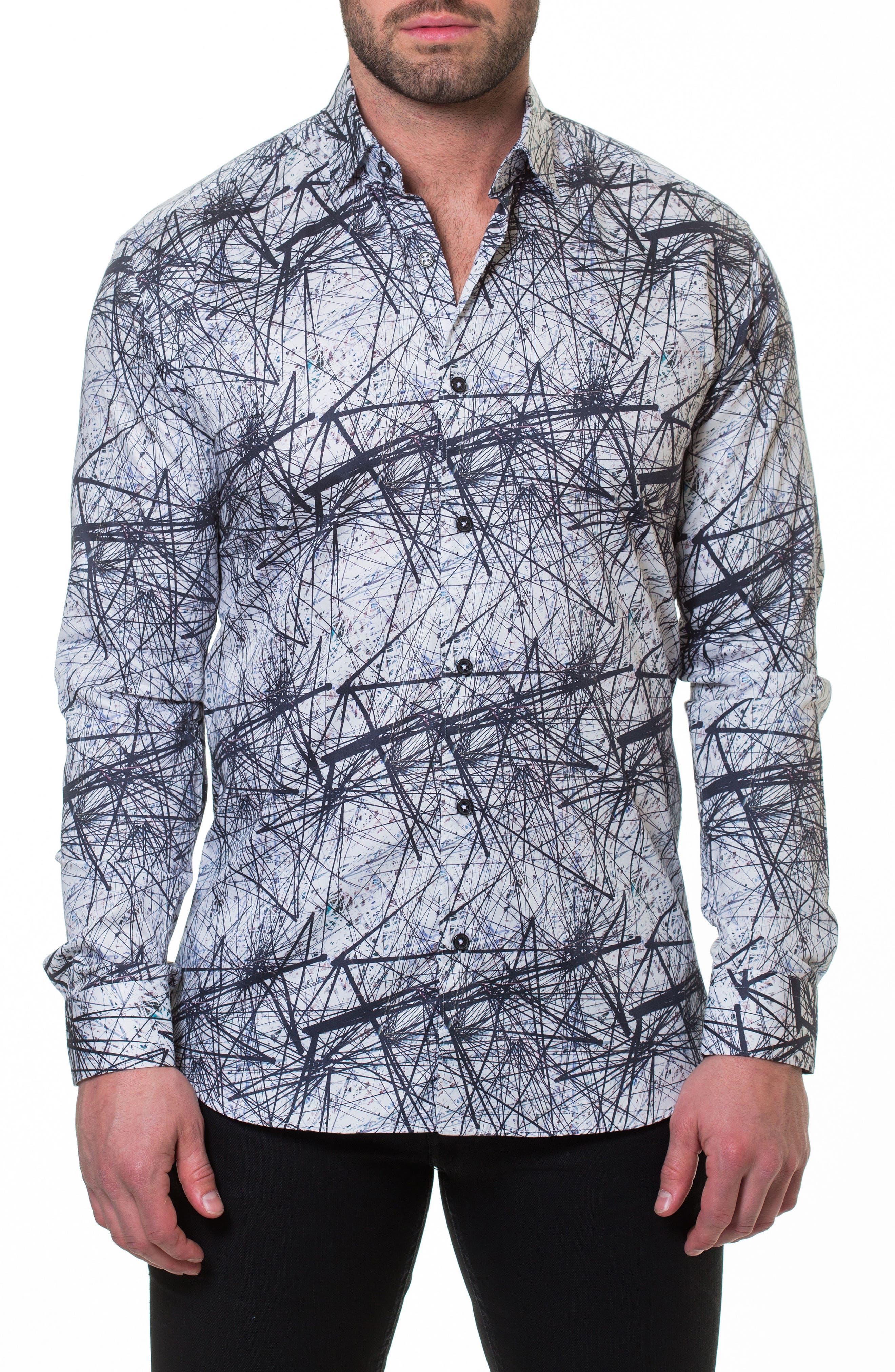 Luxor Nerve Sport Shirt,                             Main thumbnail 1, color,                             Grey