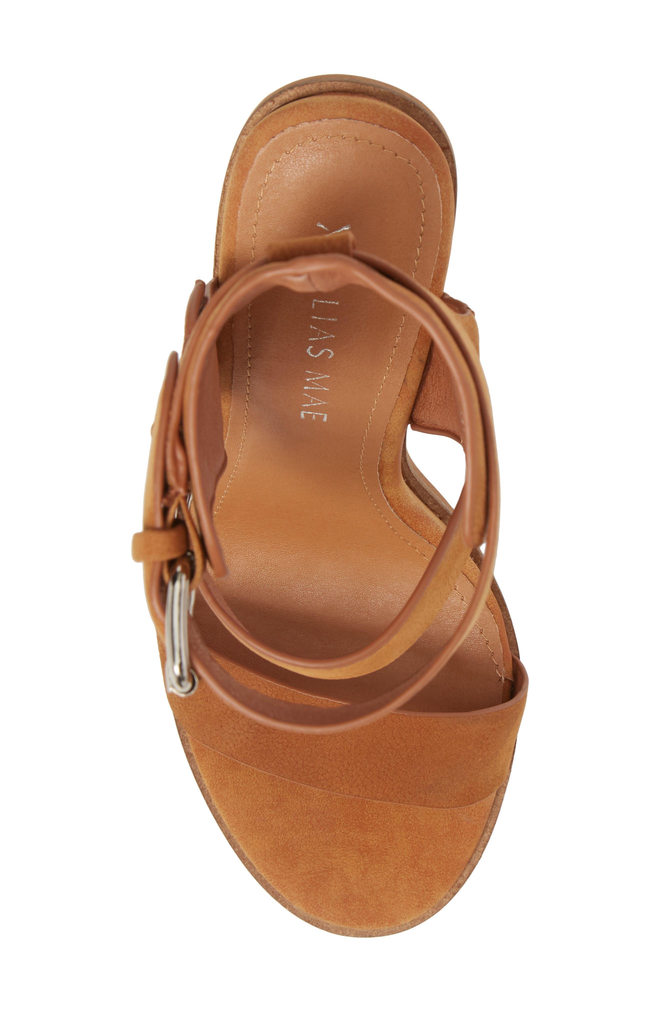 Abeba Block Heel Sandal,                             Alternate thumbnail 5, color,                             Tan Leather