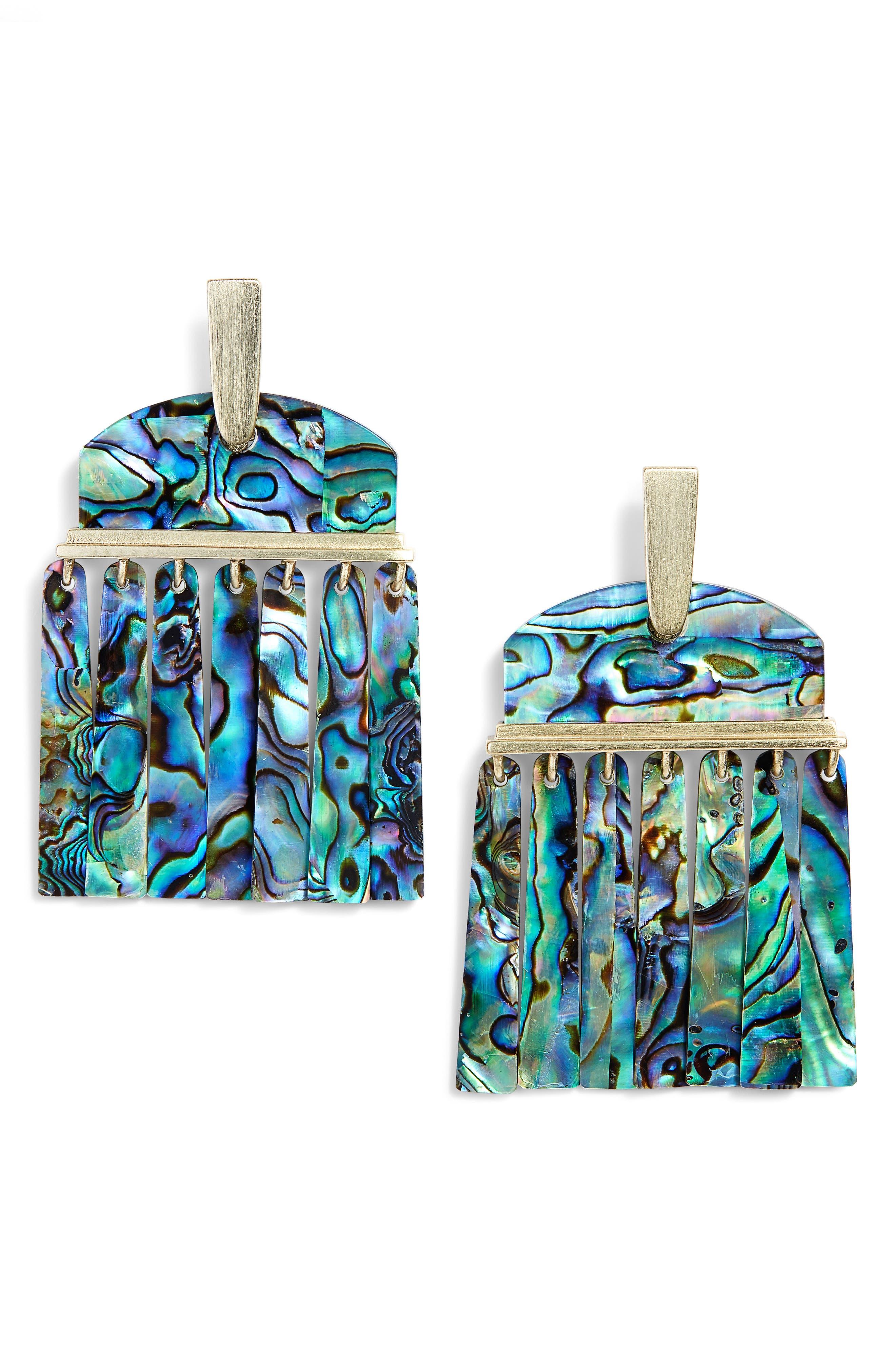 Layne Earrings,                             Main thumbnail 1, color,                             Abalone Shell/ Gold