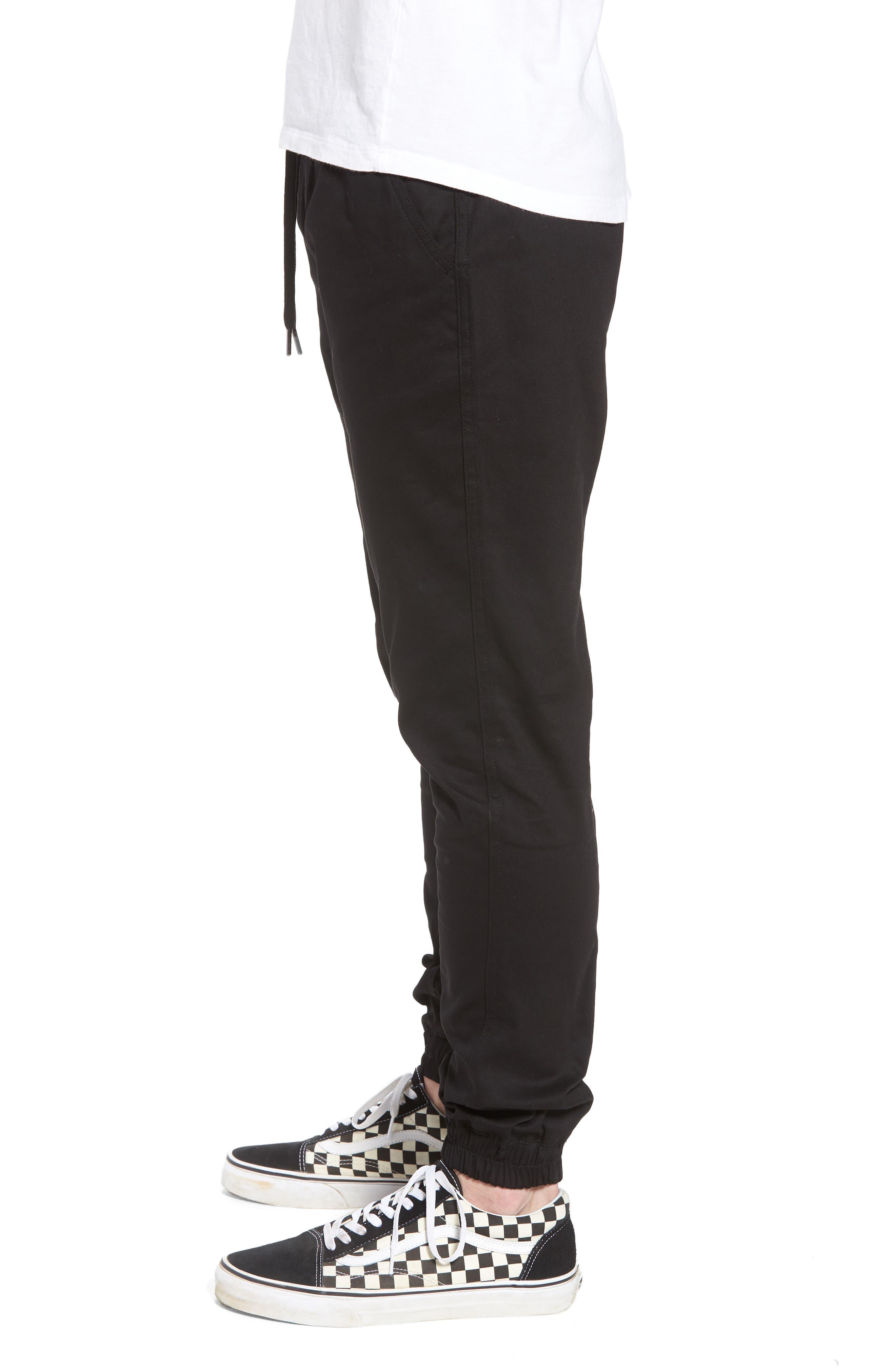 Runner Slim Fit Jogger Pants,                             Alternate thumbnail 3, color,                             Black