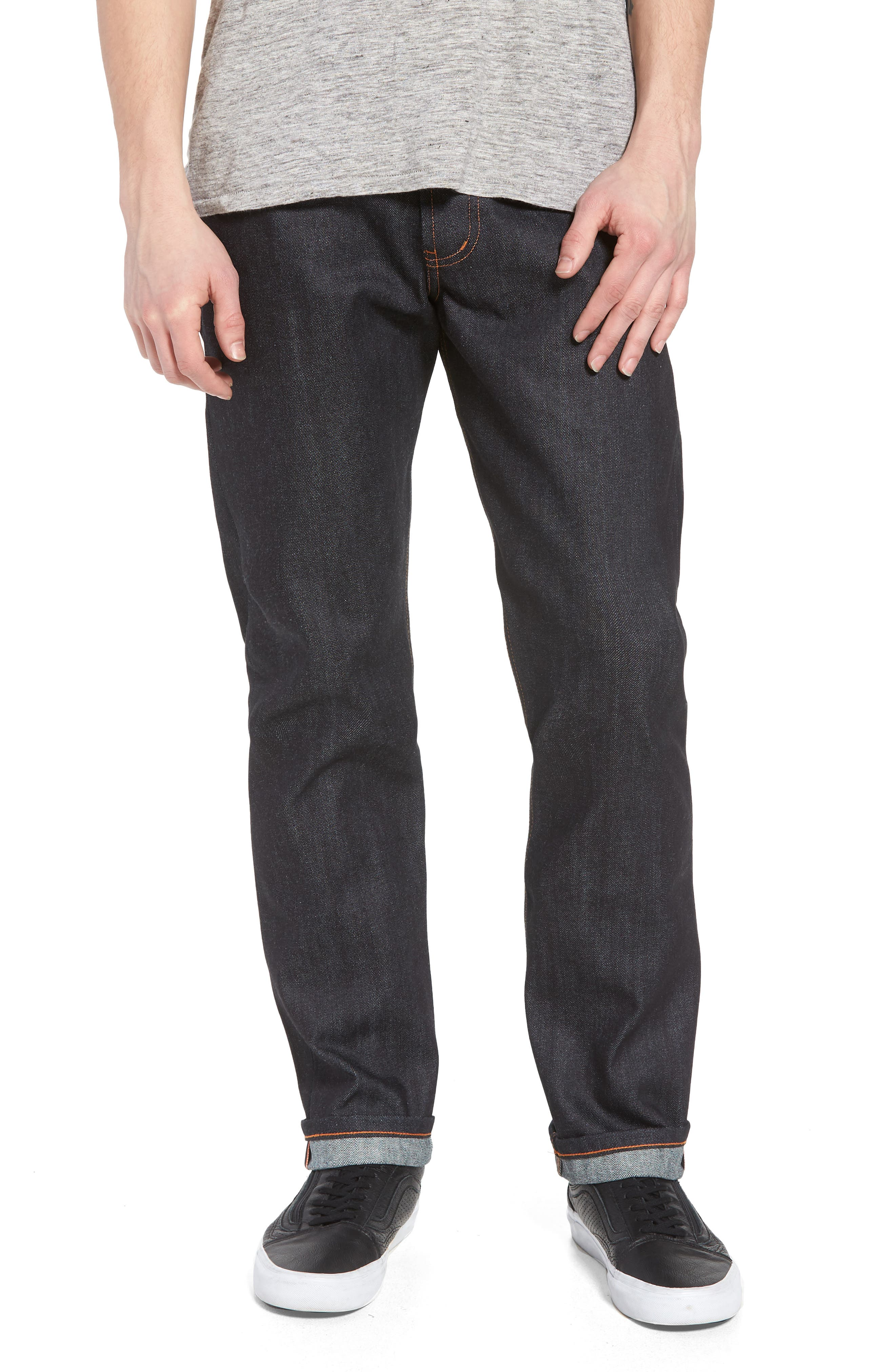 Naked & Famous Weird Guy Slim Fit Jeans,                             Main thumbnail 1, color,                             Indigo