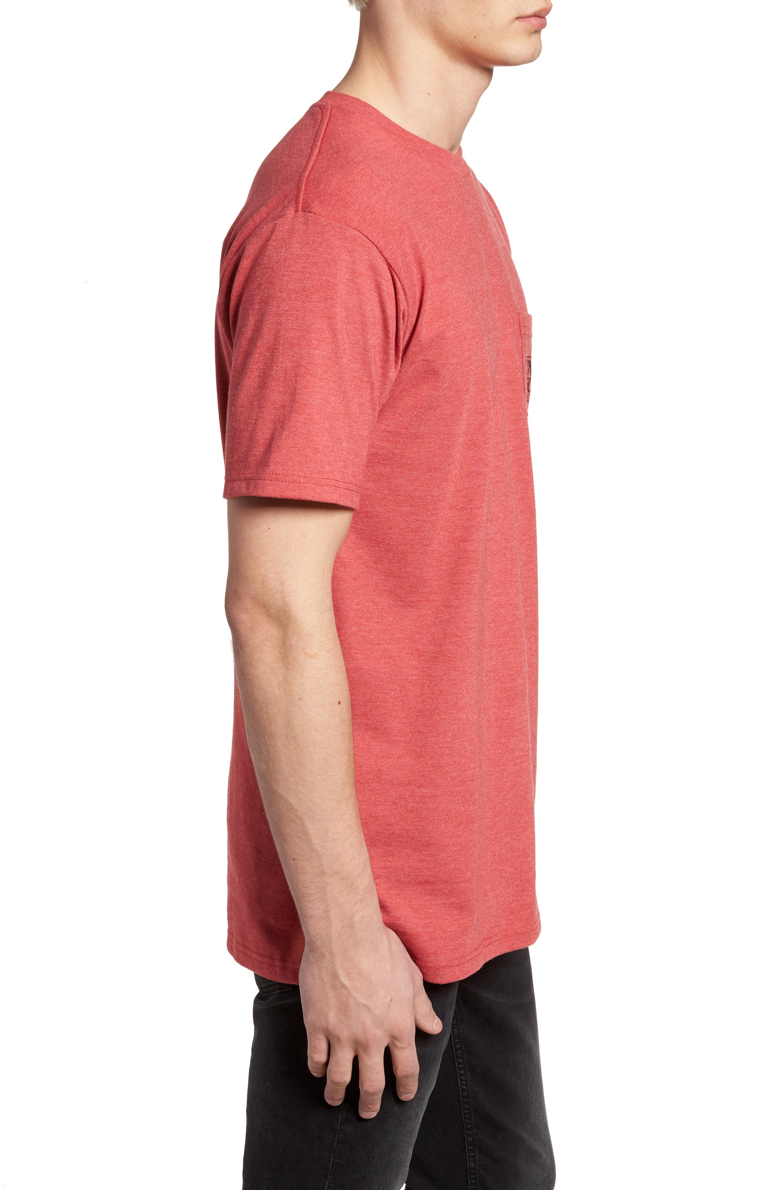 MFG Graphic T-Shirt,                             Alternate thumbnail 3, color,                             Red Heather