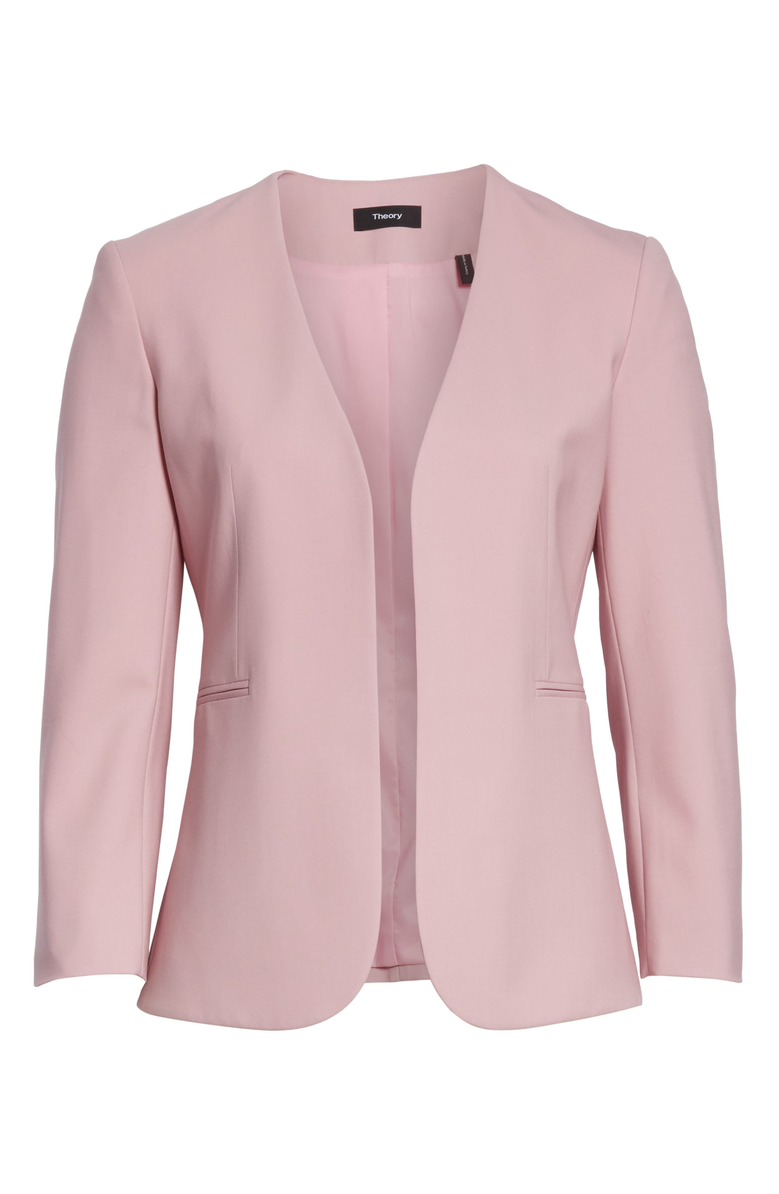 Lindrayia B Good Wool Suit Jacket,                             Alternate thumbnail 7, color,                             Berry Tint