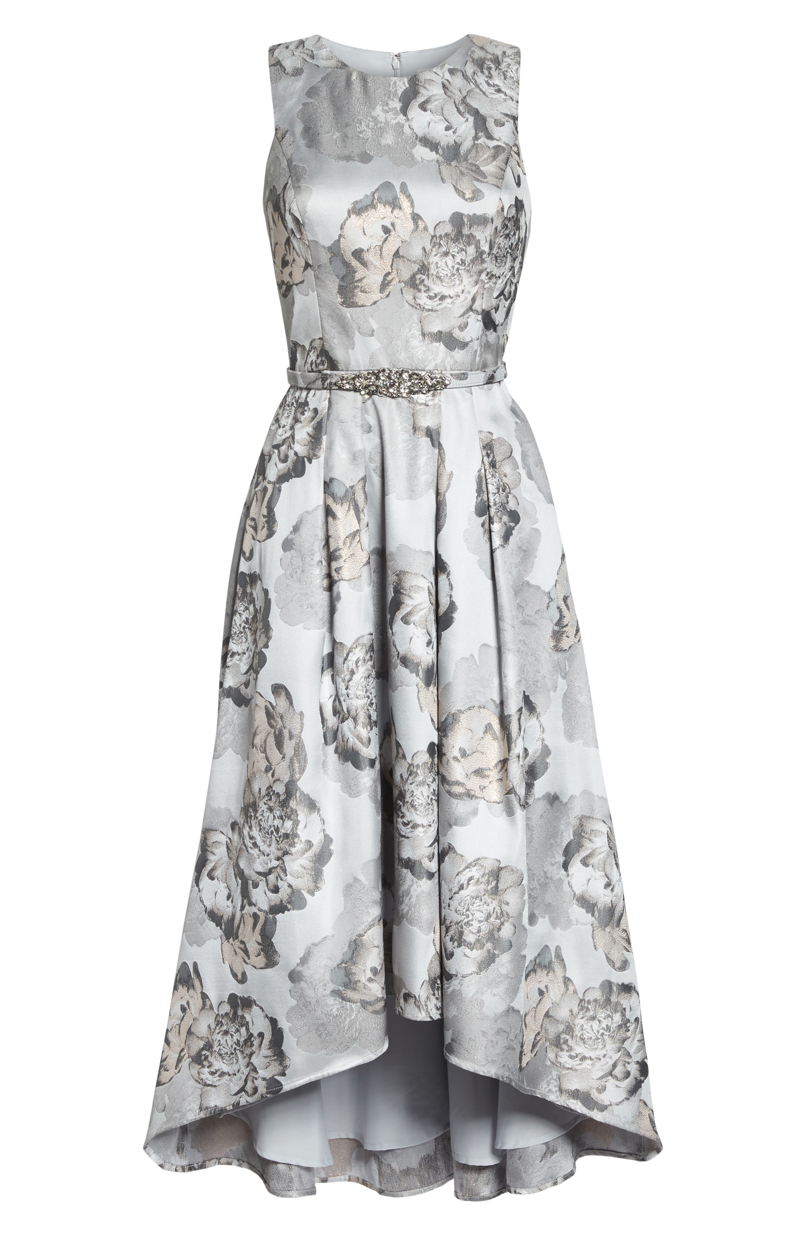 High/Low Gown,                             Alternate thumbnail 6, color,                             Pale Grey