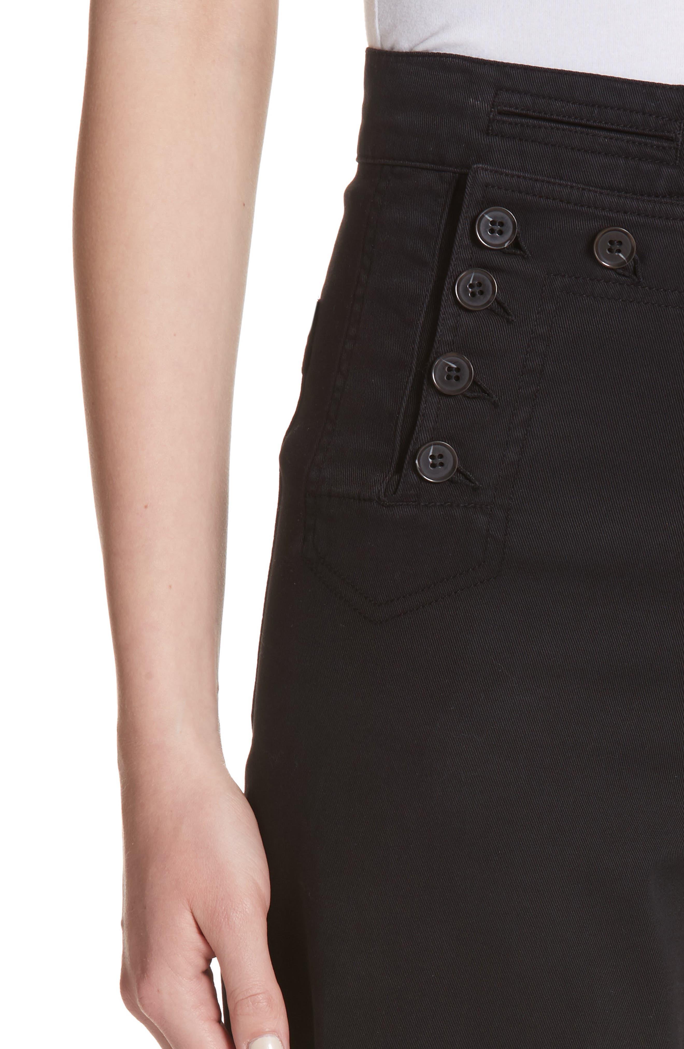 Pierce Crop Pants,                             Alternate thumbnail 4, color,                             Black