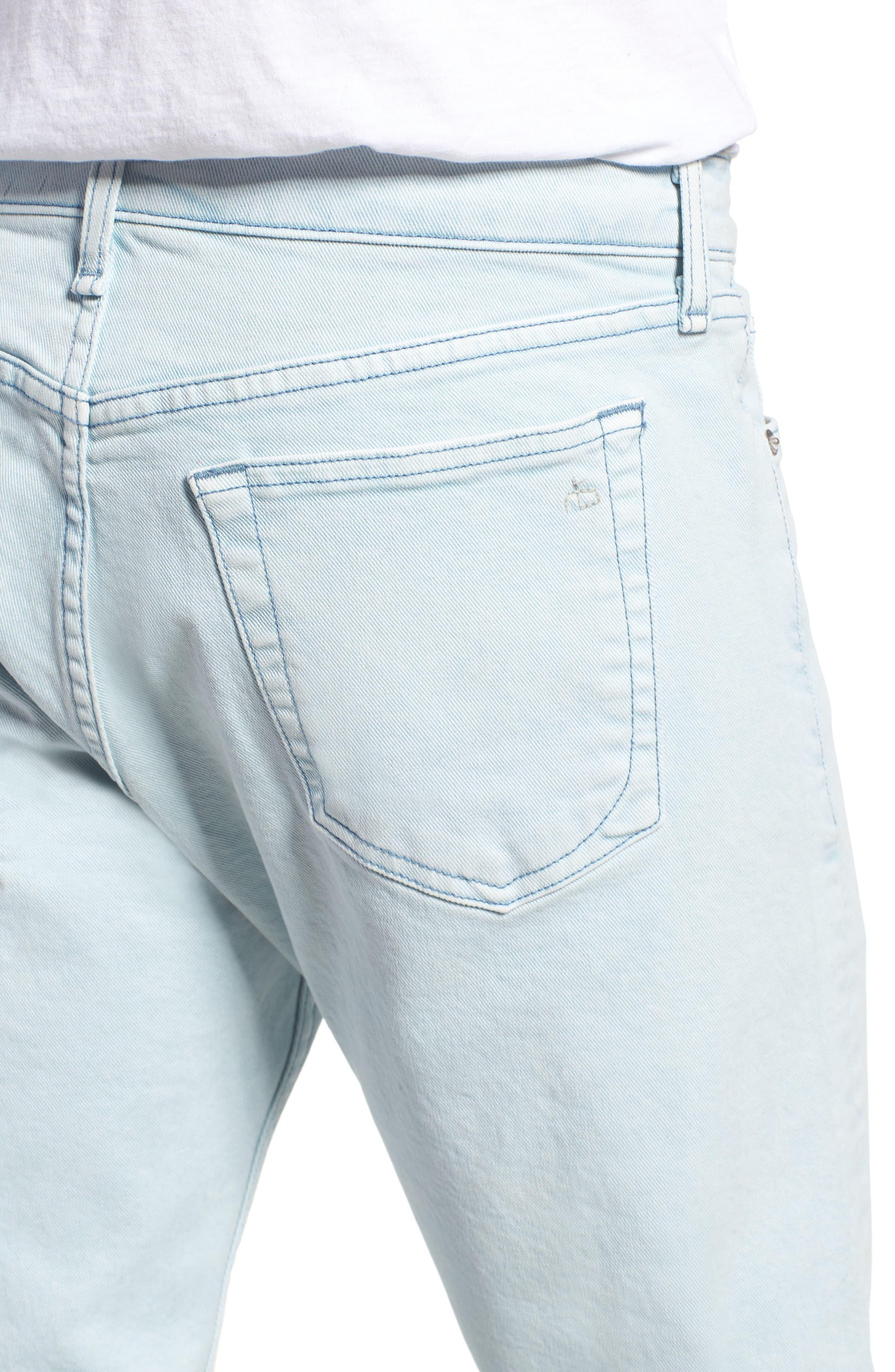 Fit 2 Slim Fit Jeans,                             Alternate thumbnail 4, color,                             Light Blue Pigment