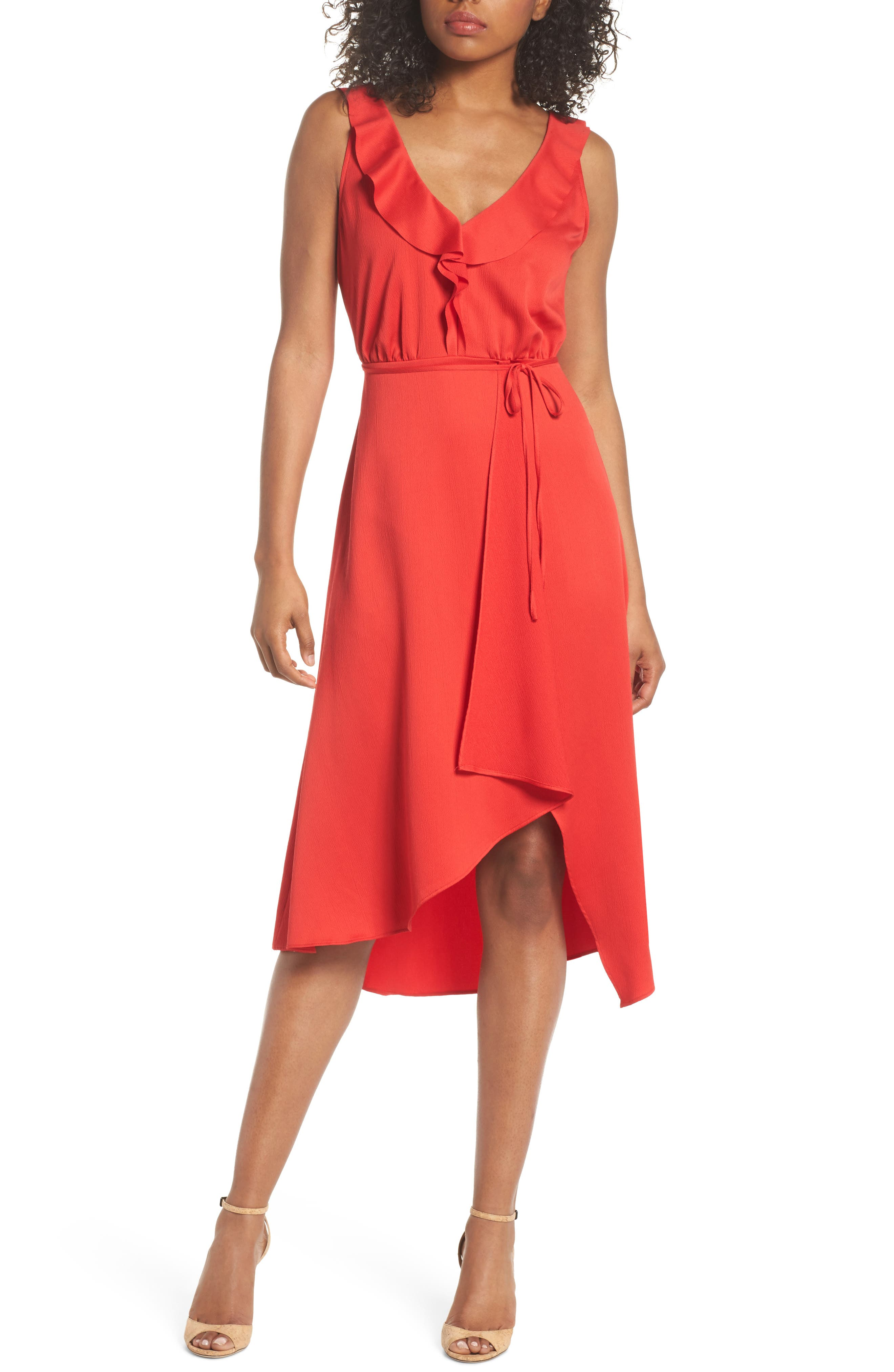 Alternate Image 1 Selected - French Connection Maudie Ruffle Midi Dress