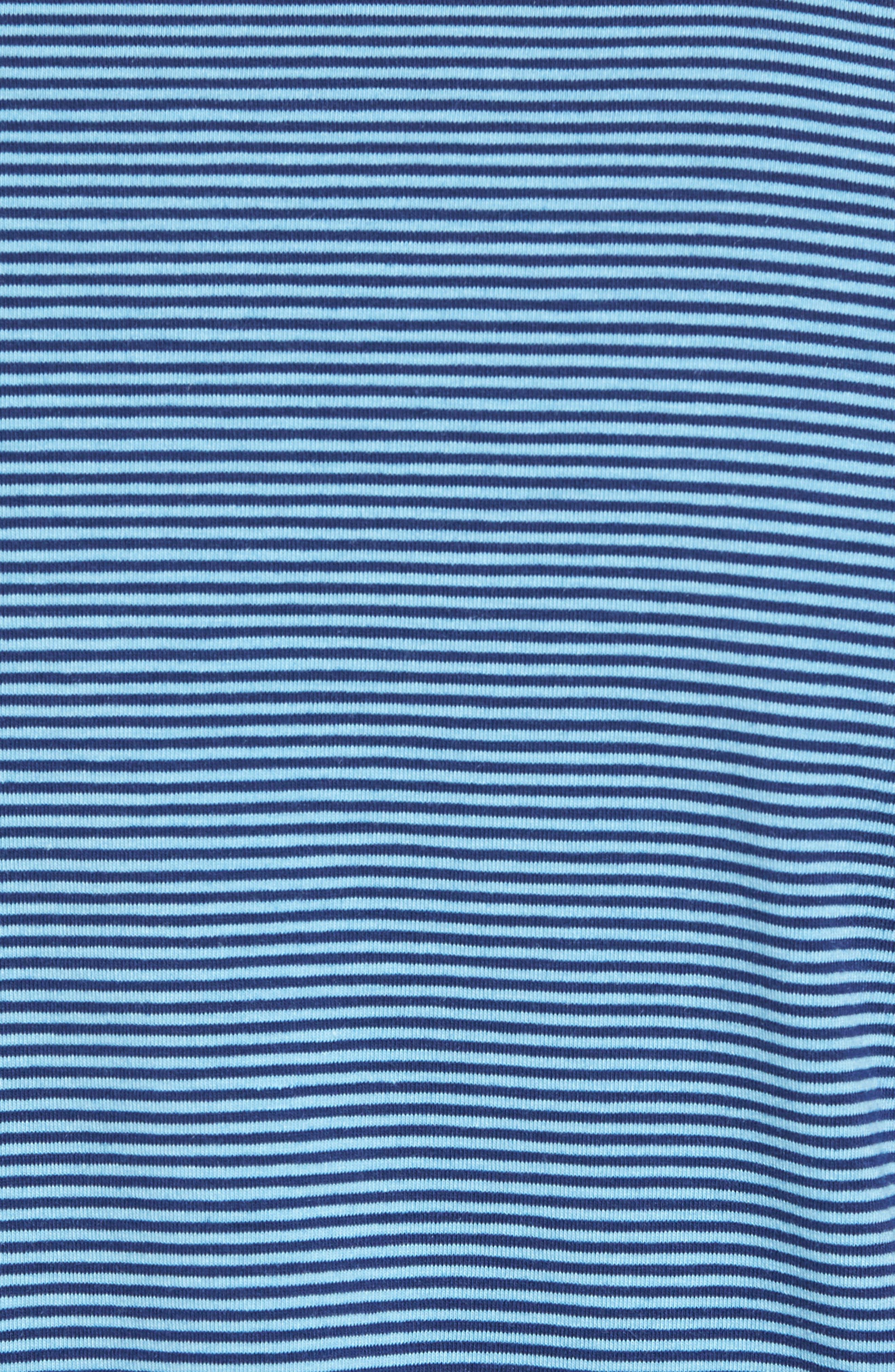 Edgartown Stripe Stretch Polo,                             Alternate thumbnail 5, color,                             Ocean Breeze