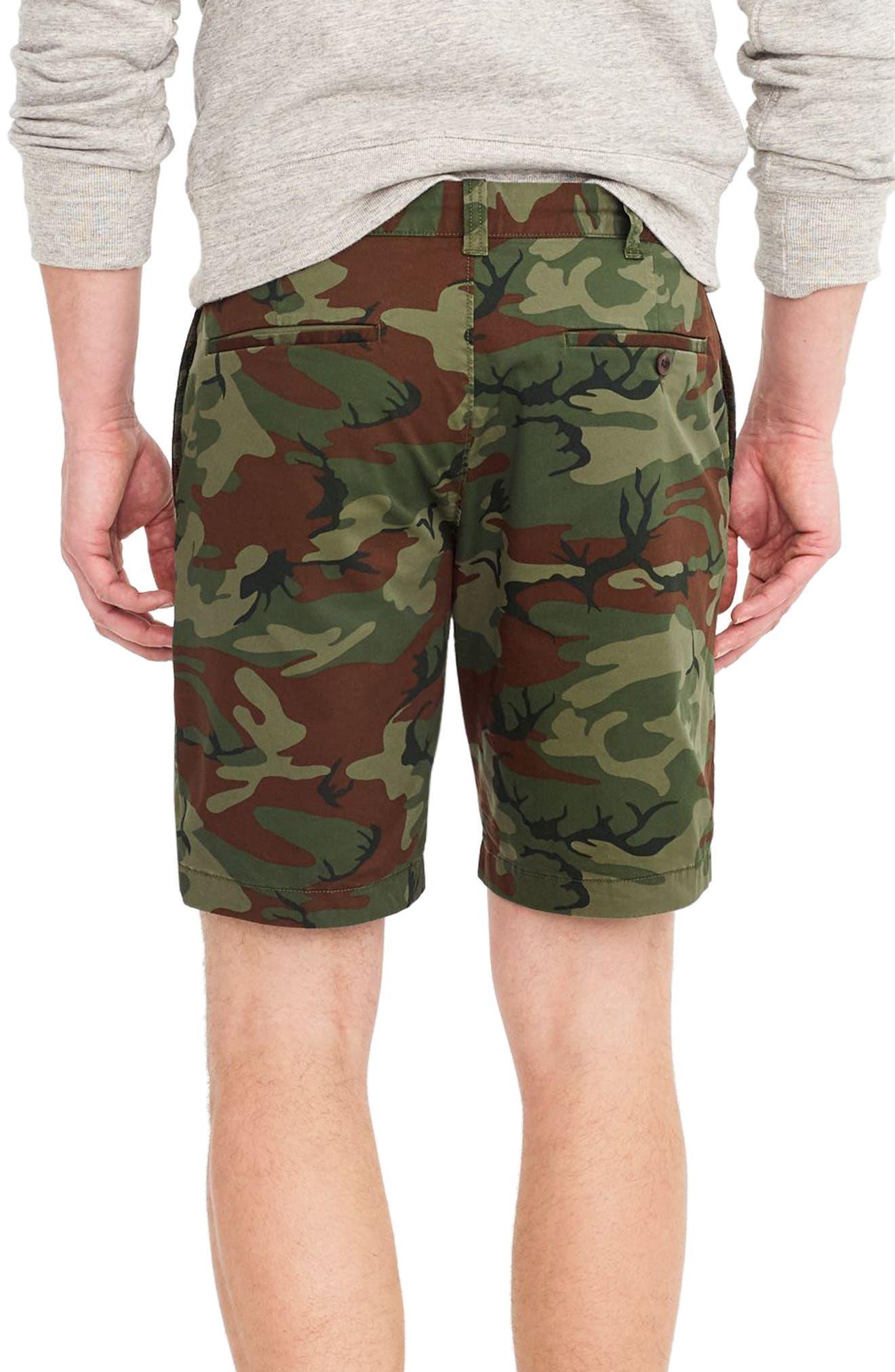J.Crew Stretch Camo Shorts,                             Alternate thumbnail 2, color,                             Camo Wamo