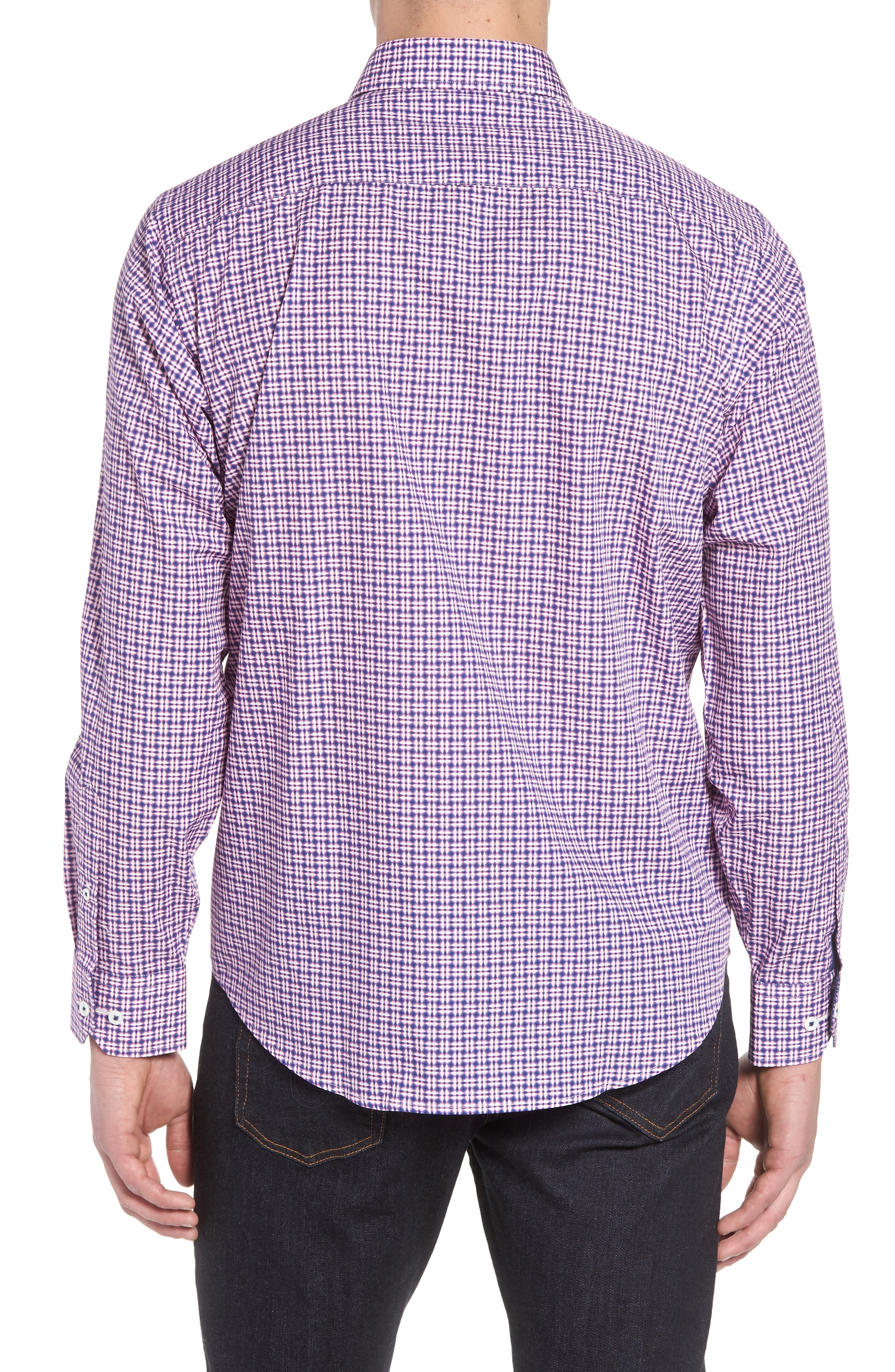 Classic Fit Woven Sport Shirt,                             Alternate thumbnail 2, color,                             Pink