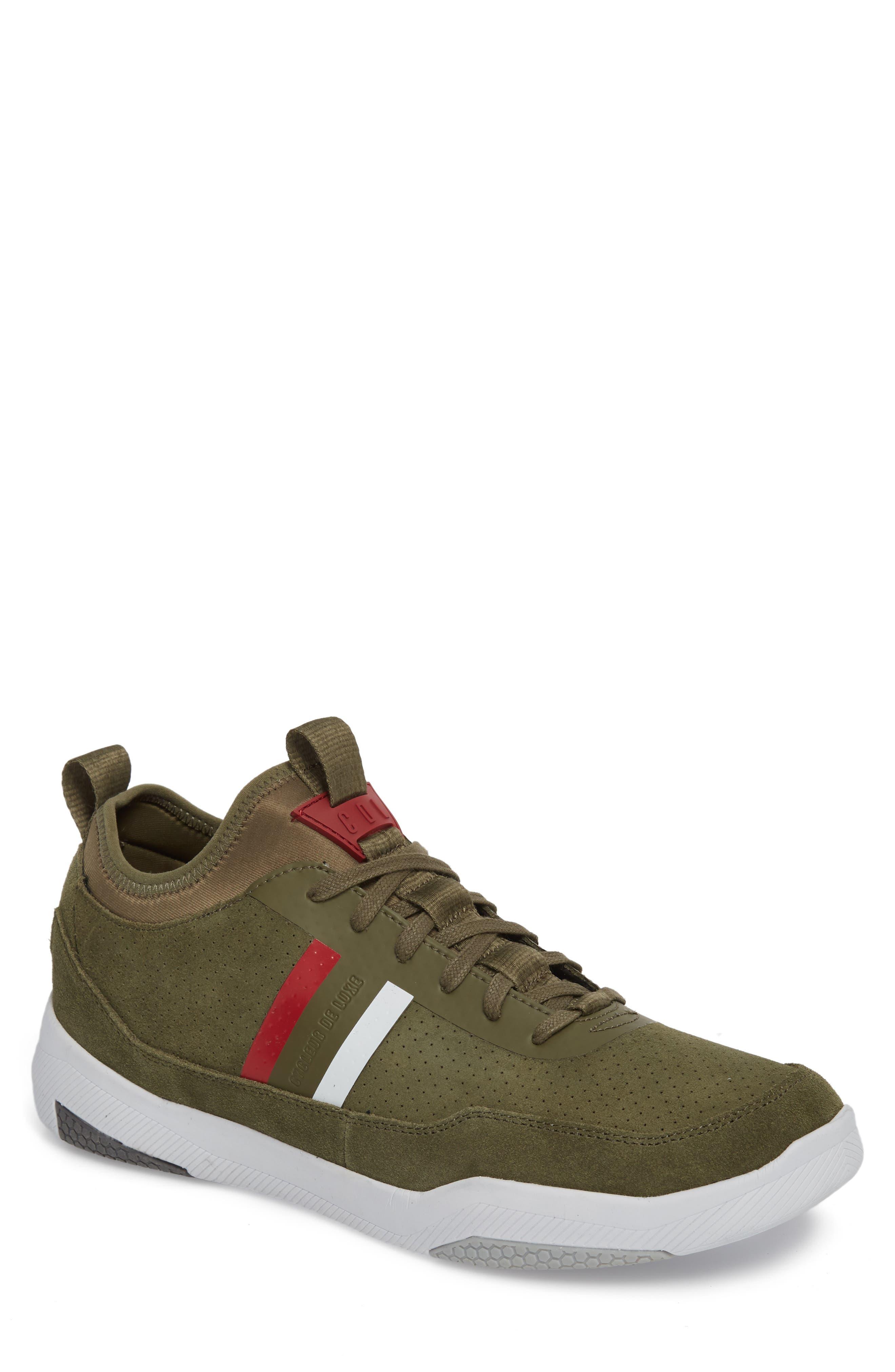 Shiro Hi Sock Fit Sneaker,                             Main thumbnail 1, color,                             Military Green Suede