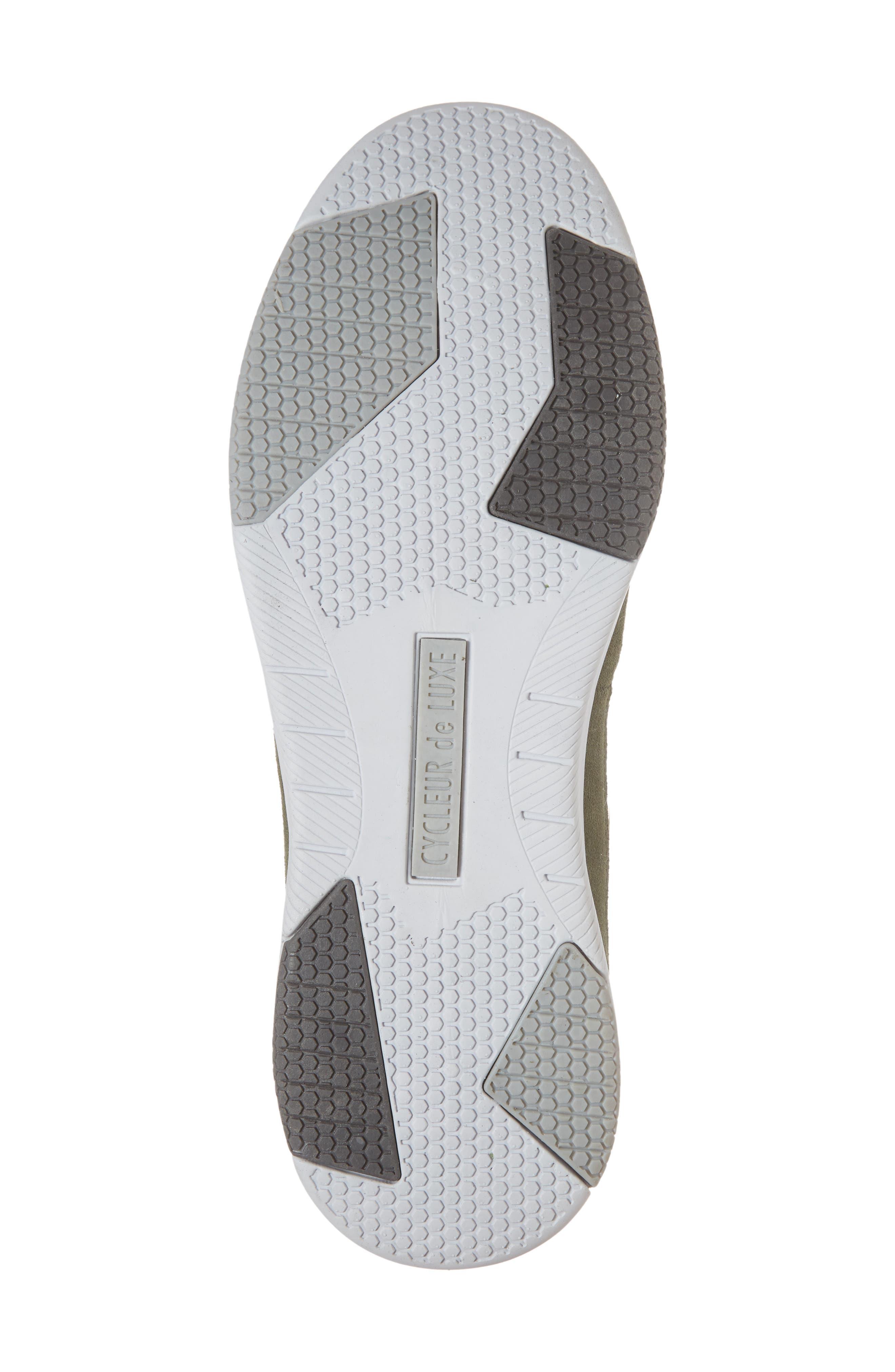 Shiro Hi Sock Fit Sneaker,                             Alternate thumbnail 6, color,                             Military Green Suede