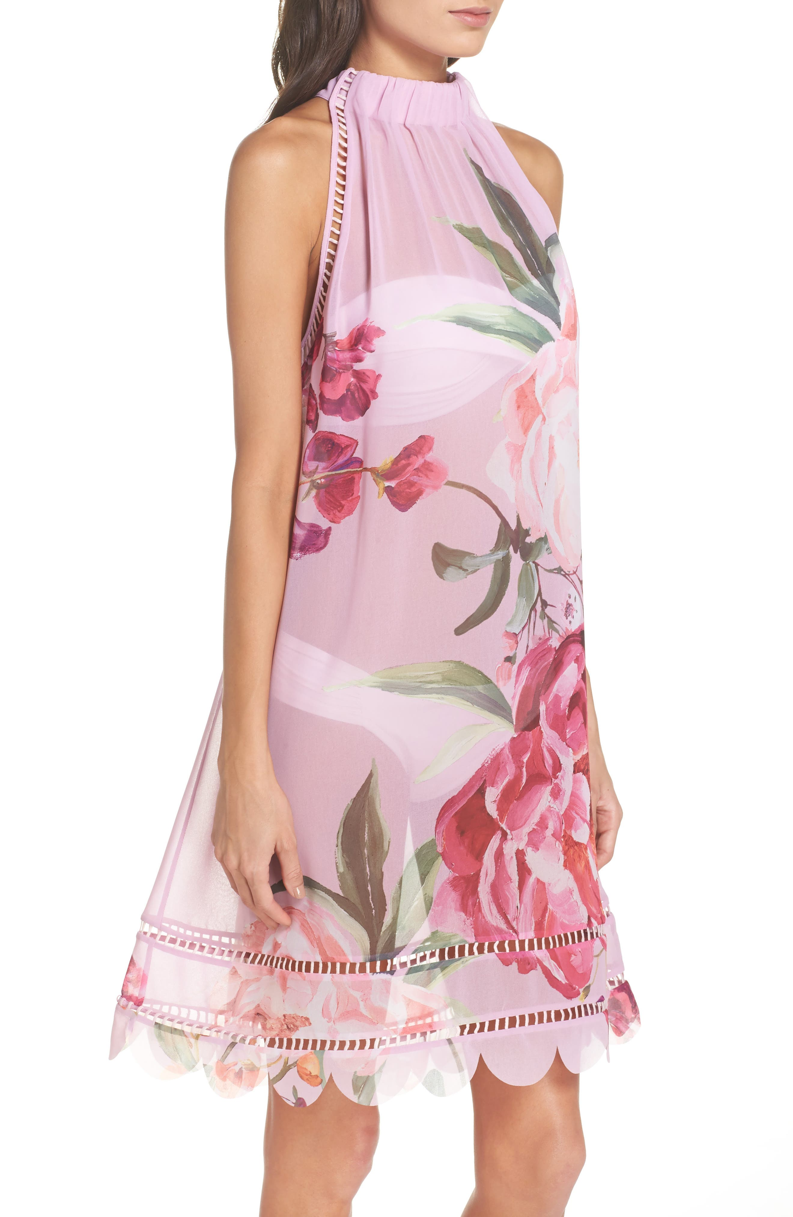 Serenity Scallop Cover-Up,                             Alternate thumbnail 3, color,                             Pale Pink